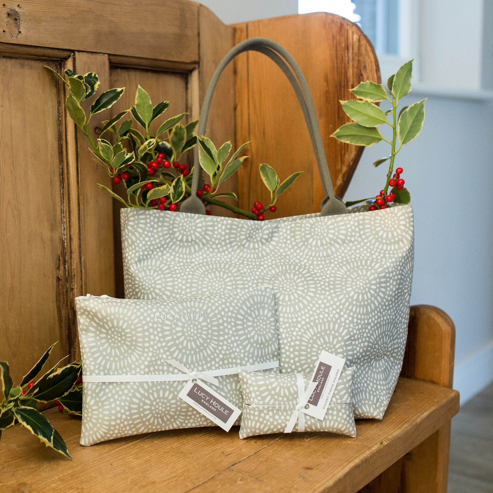 Stone Sunburst Tote Bag Gift Set