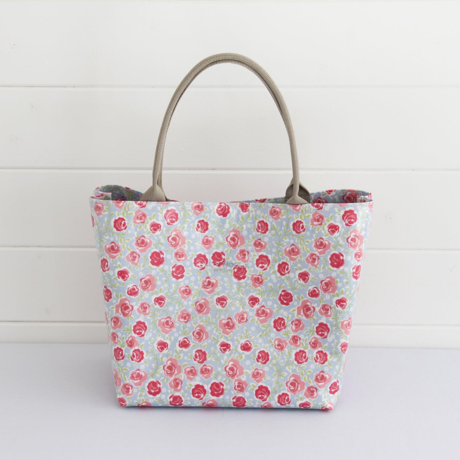 Rose Garden Blue Small Grab Bag