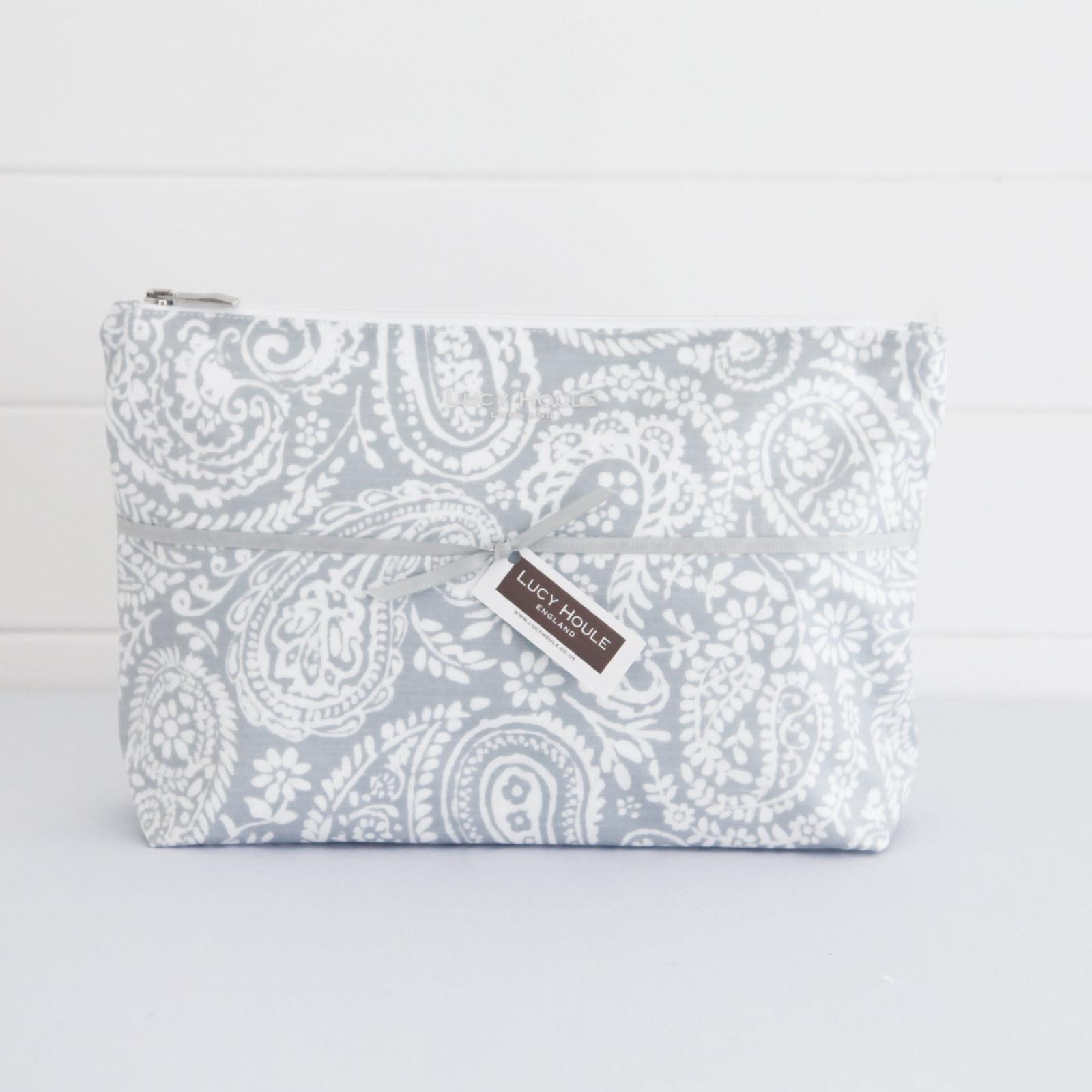 Grey Paisley Wash Bag