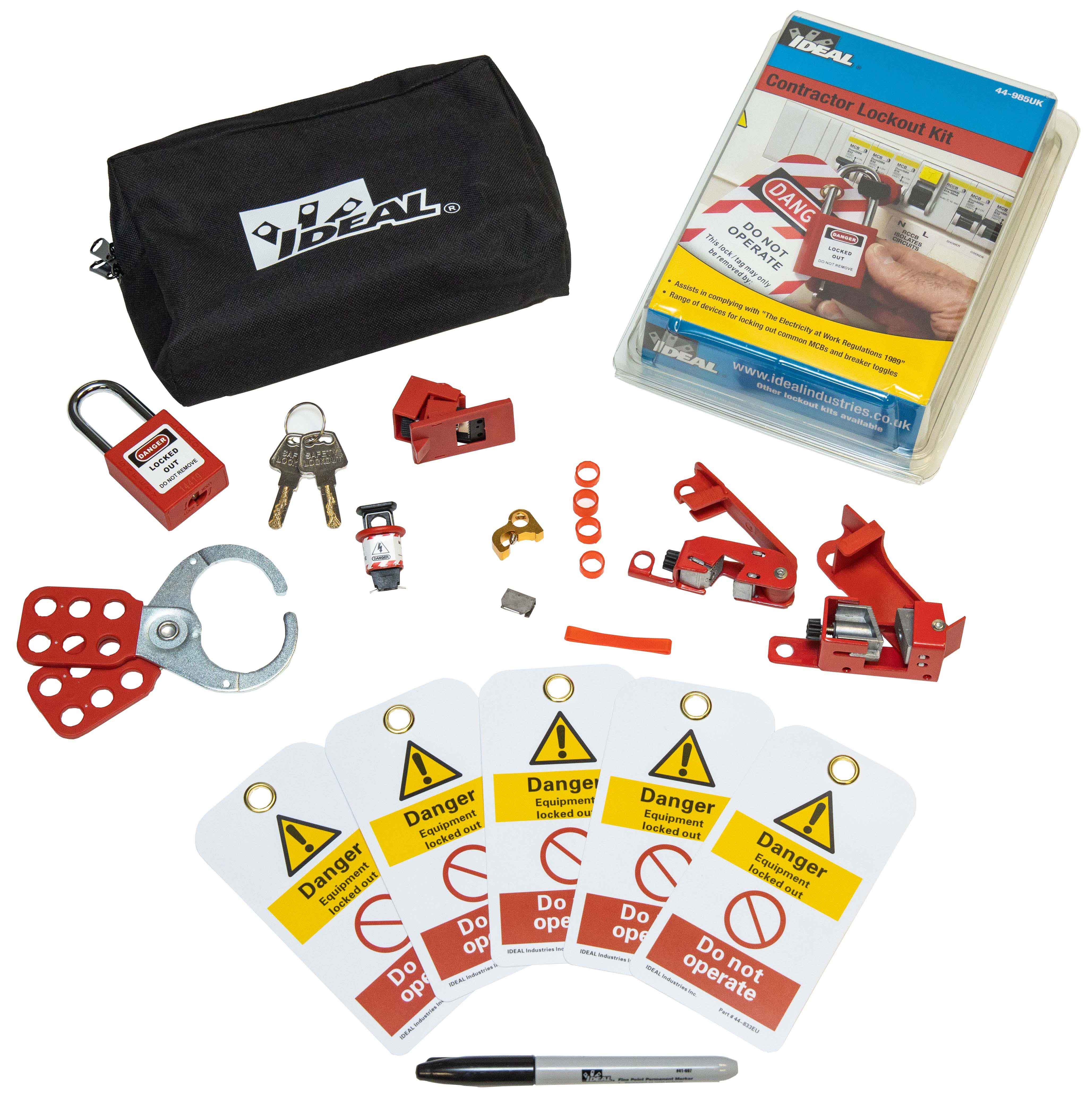 LOCKOUT/TAGOUT KIT CONTRACTOR  44-985UK