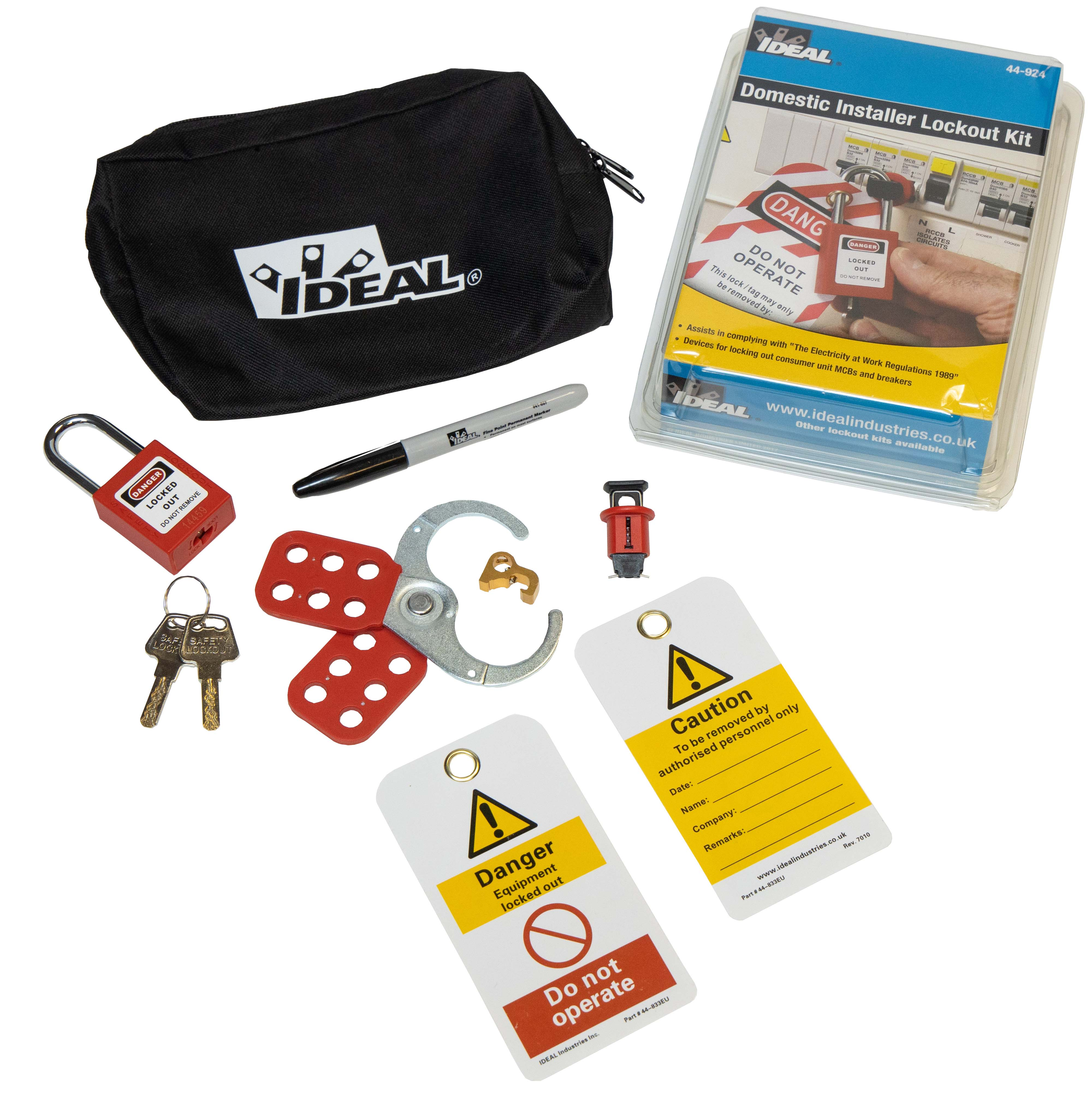 UK DOMESTIC INSTALLER LOTO KIT  44-924