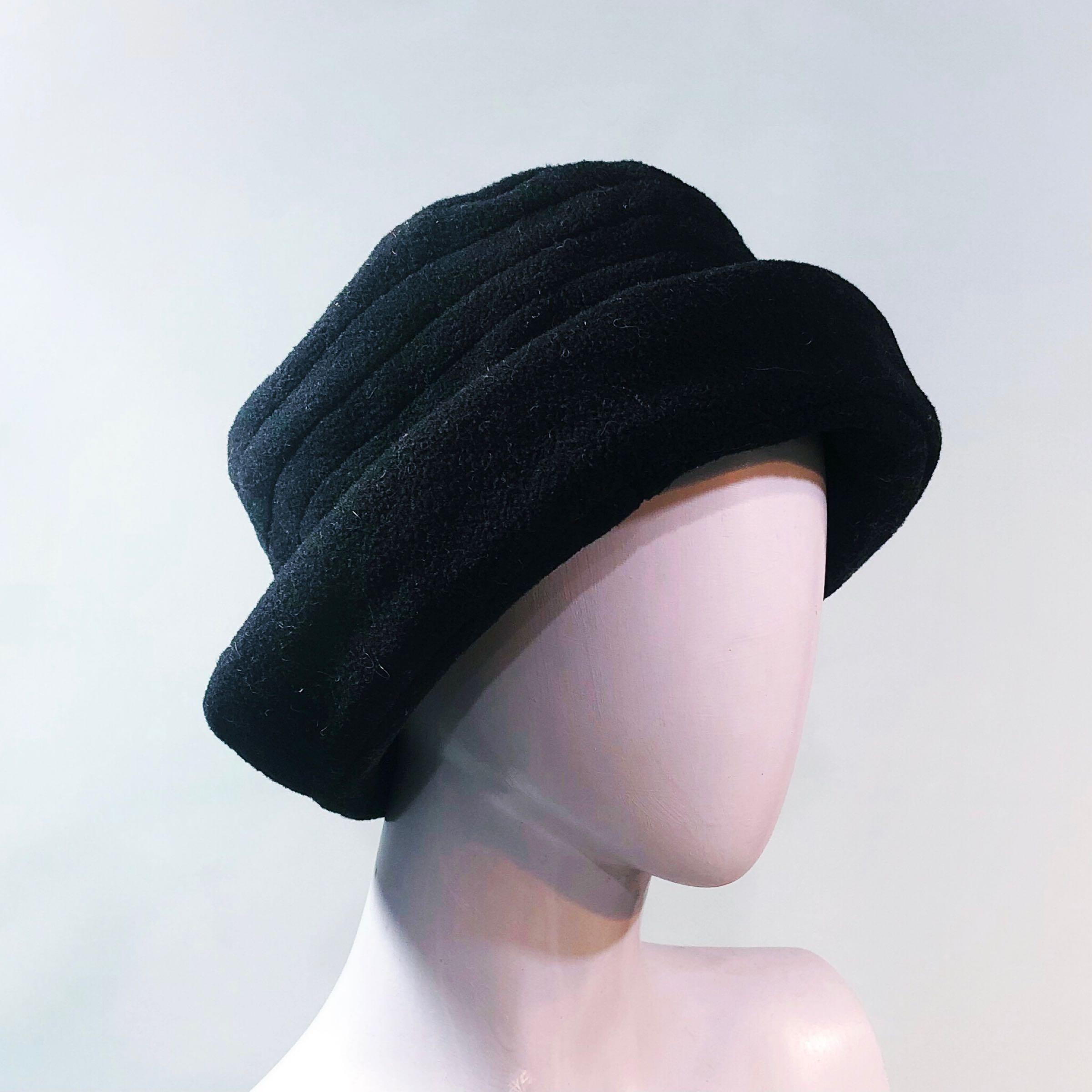 Black fleece M&S hat
