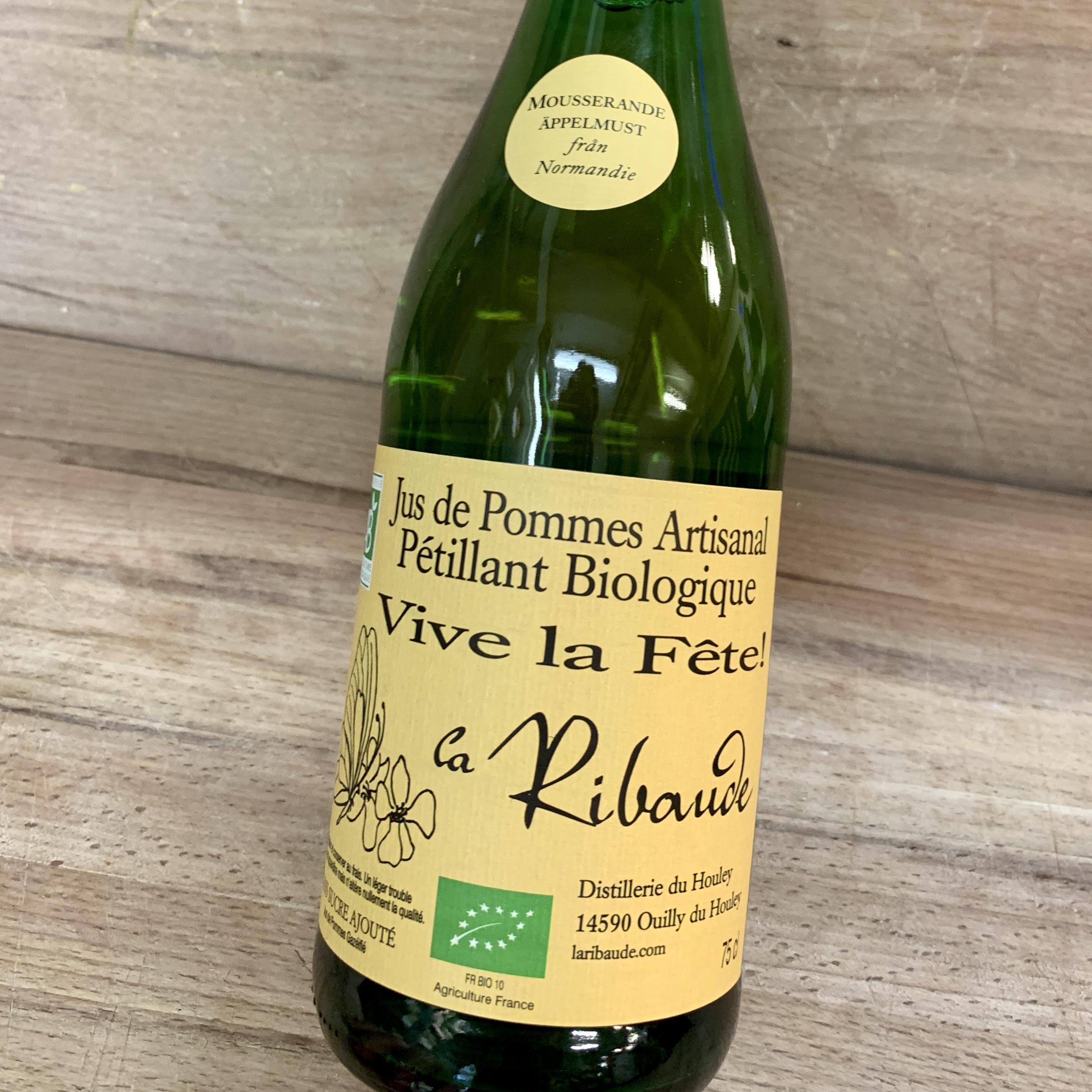 Jus De Pommes La Ribaude - 75 cl