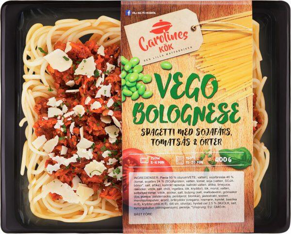 Vego Bolognese spagetti med sojafärs,tomat & örter