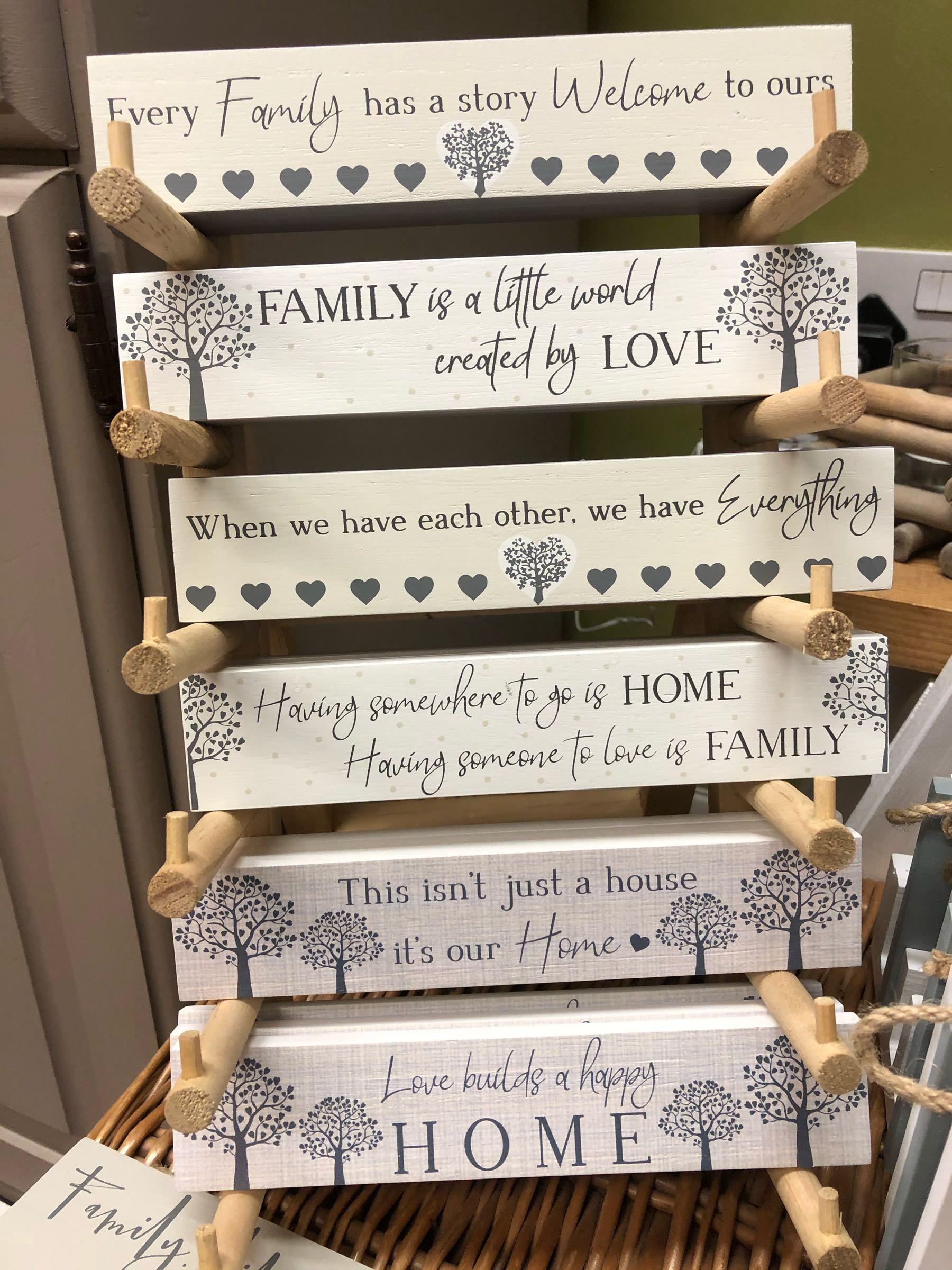 Mini family plaque