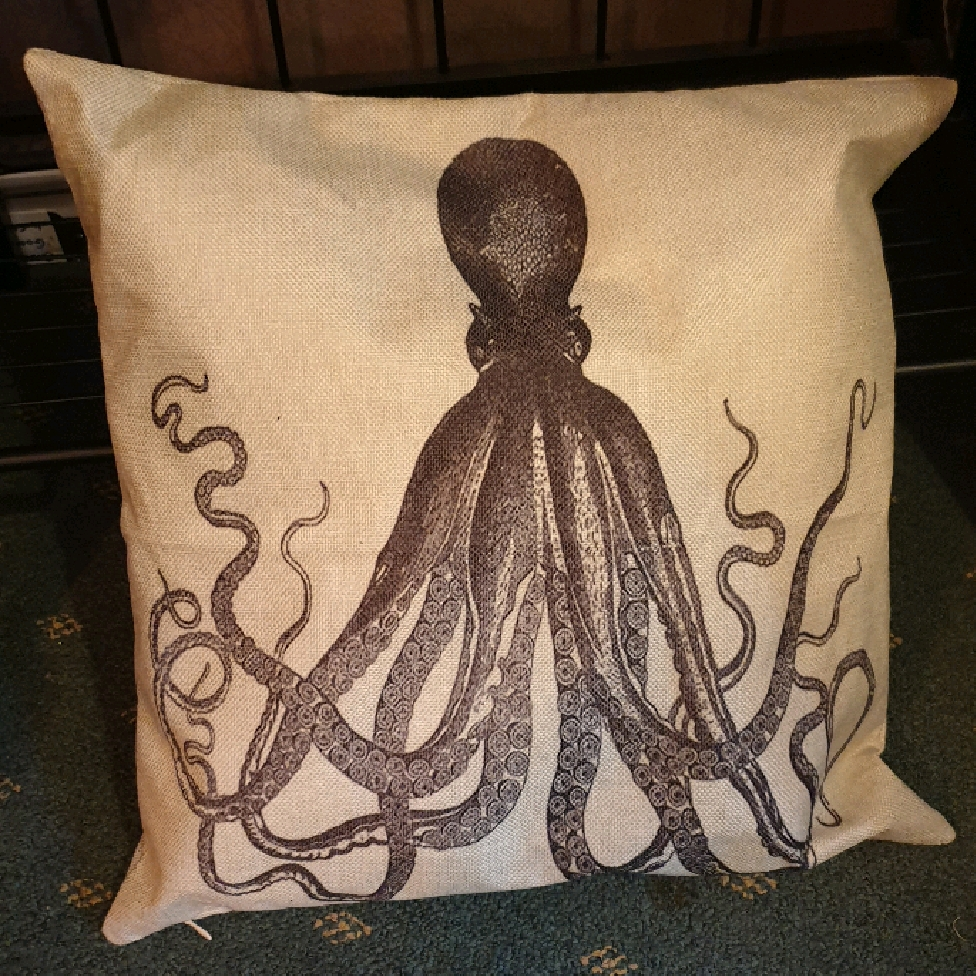 Cushion cover - Long Octopus