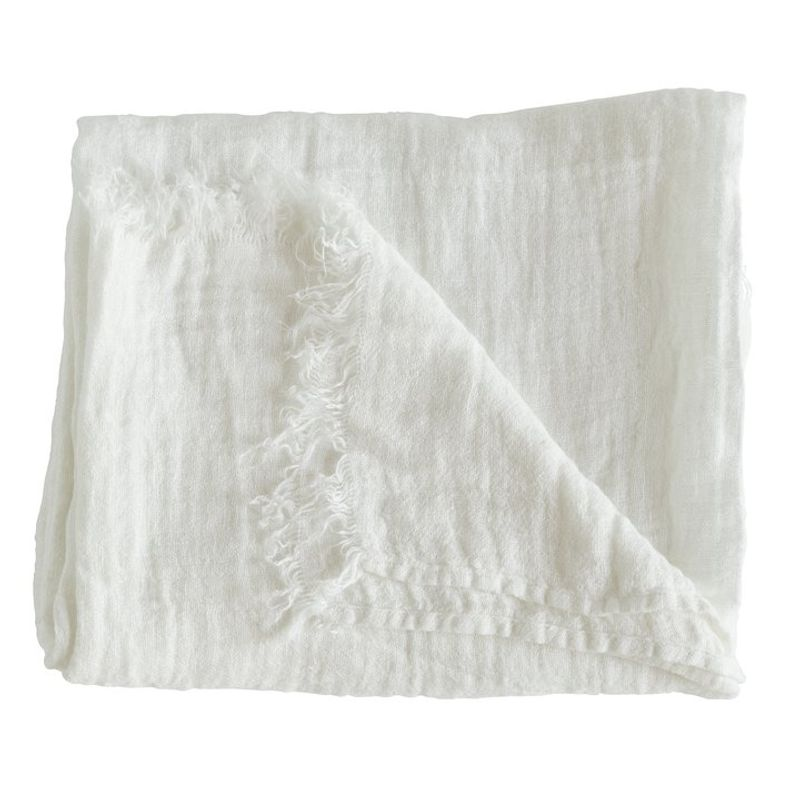 Hvitt pledd i lin fra TineK Home