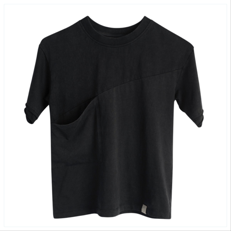 Loke t-skjorte i organisk bomull, sort