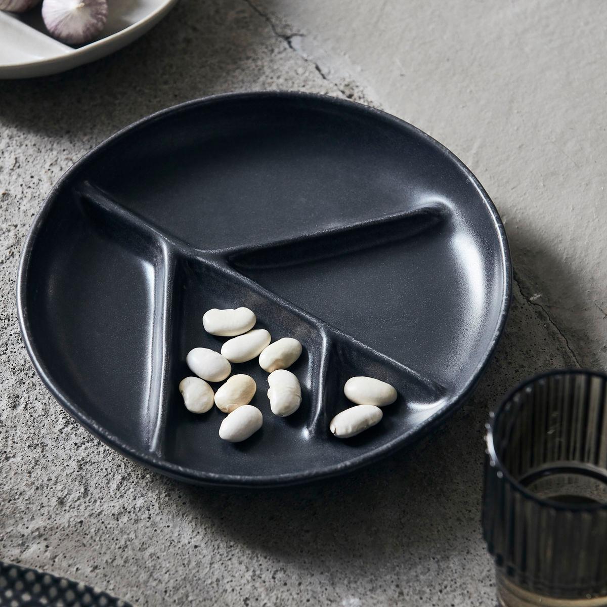 Branch tallerken mørk grå/sort