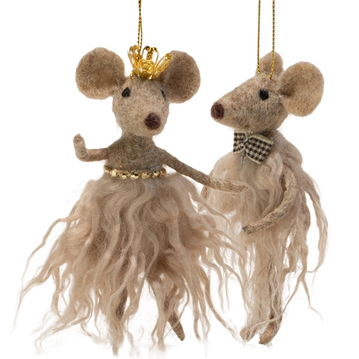 Juletre-ornament, beige mus