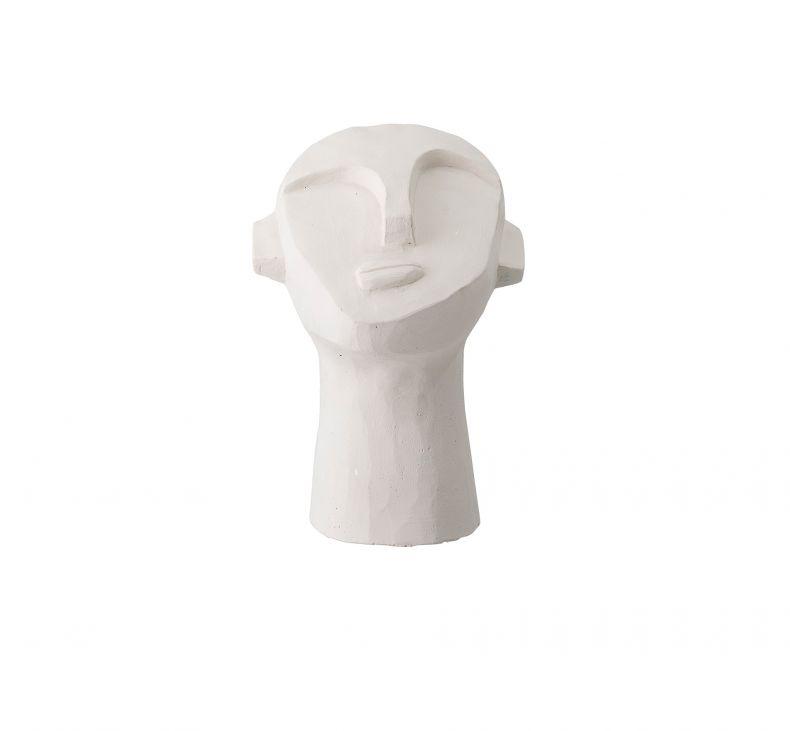 Skulptur i hvit sement
