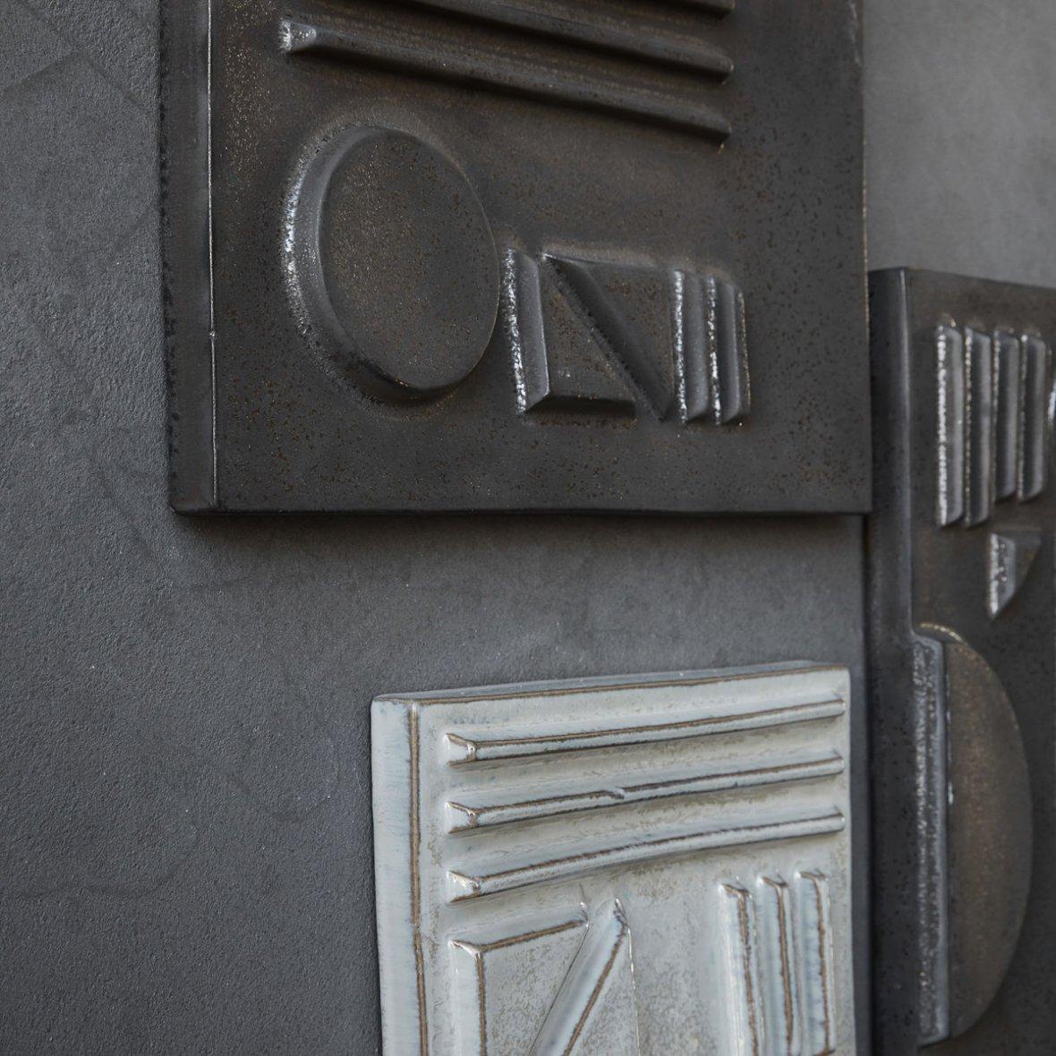 Relief, Geometric 03 vegg-deko