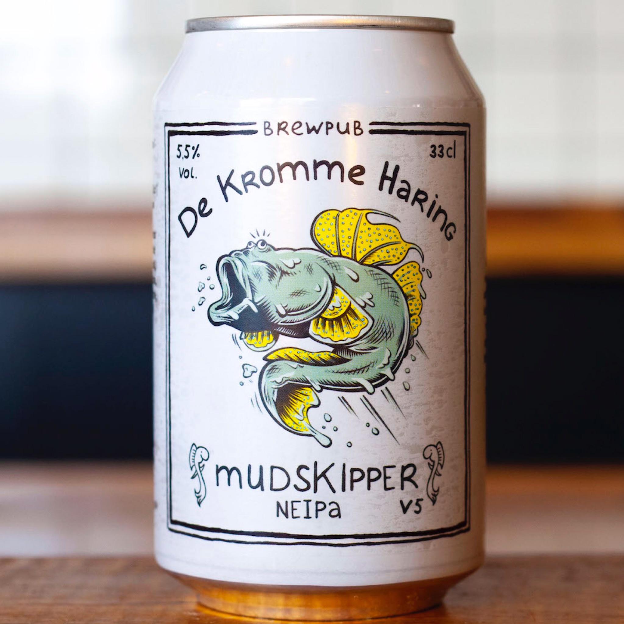 Mudskipper V5  New England IPA 5.5% 330ml De Kromme Haring