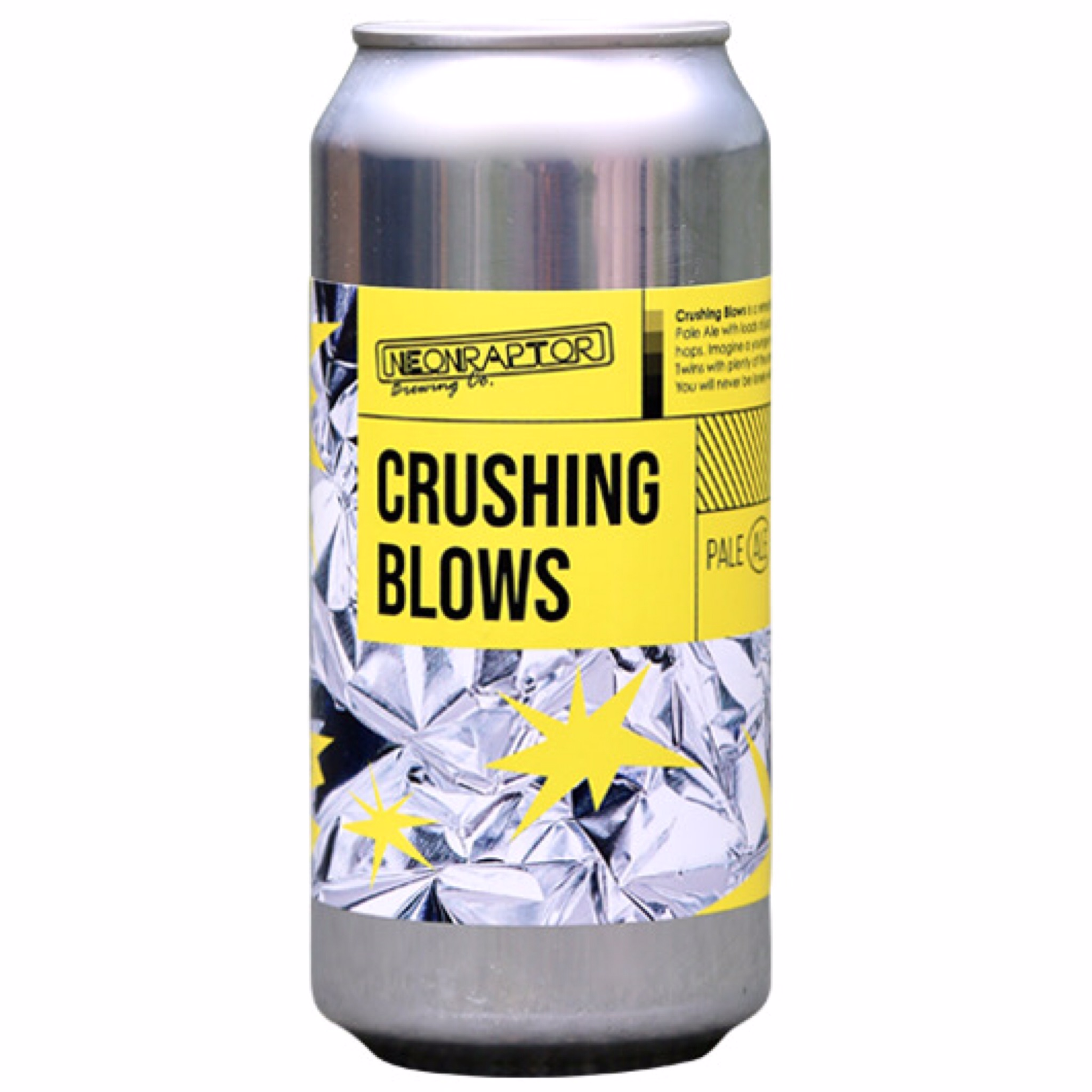Crushing Blows - Pale Ale 3.8% 440ml NeonRaptor Brewing Co