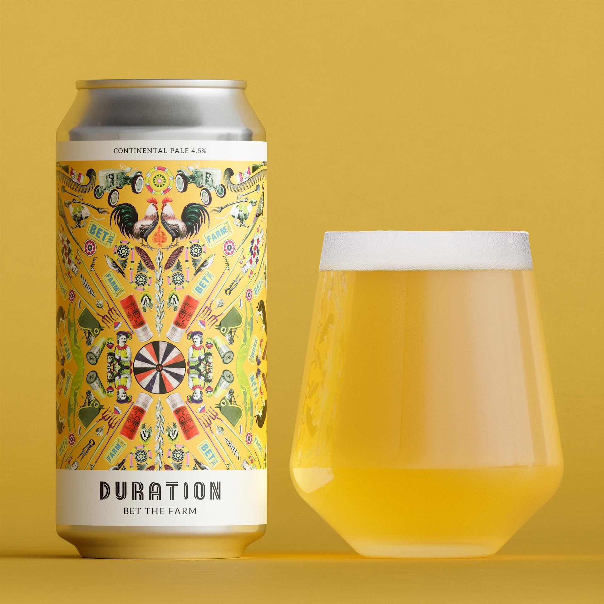 Bet The Farm Continental Pale 4.5% 440ml Duration Brewing