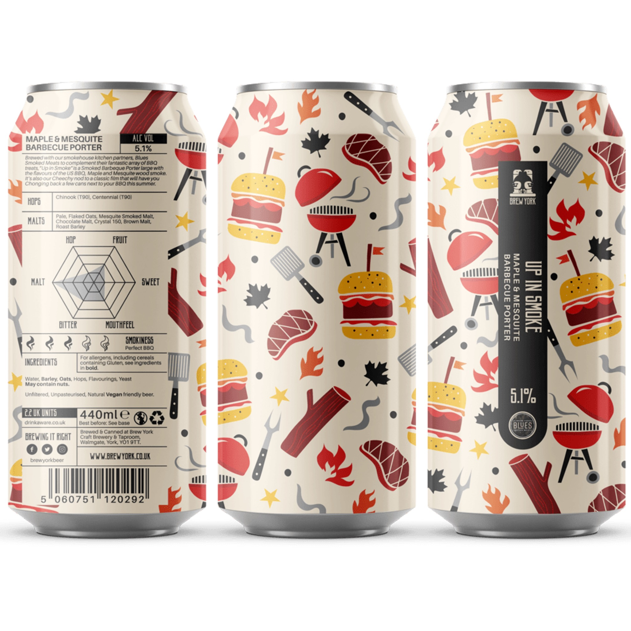 Up In Smoke Maple Porter 5.1% 440ml Brew York