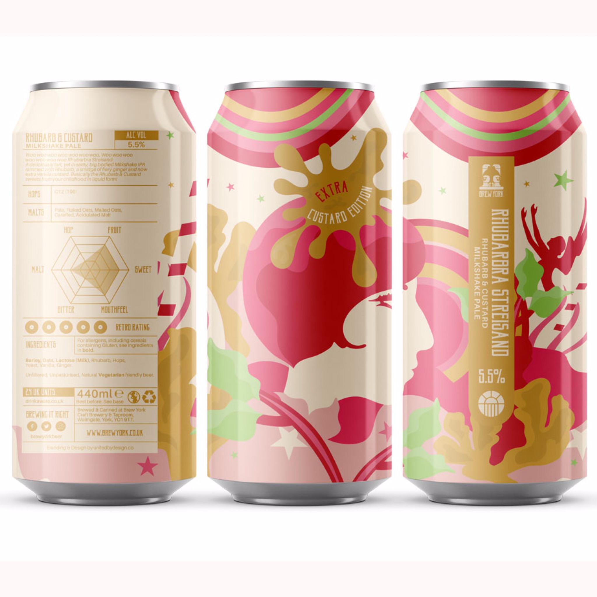 Rhubarbra Streisand Extra Custard Edition 5.5% 440ml Brew York