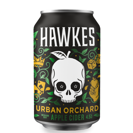 Hawkes Urban Orchard Cider 4.5% 330ml