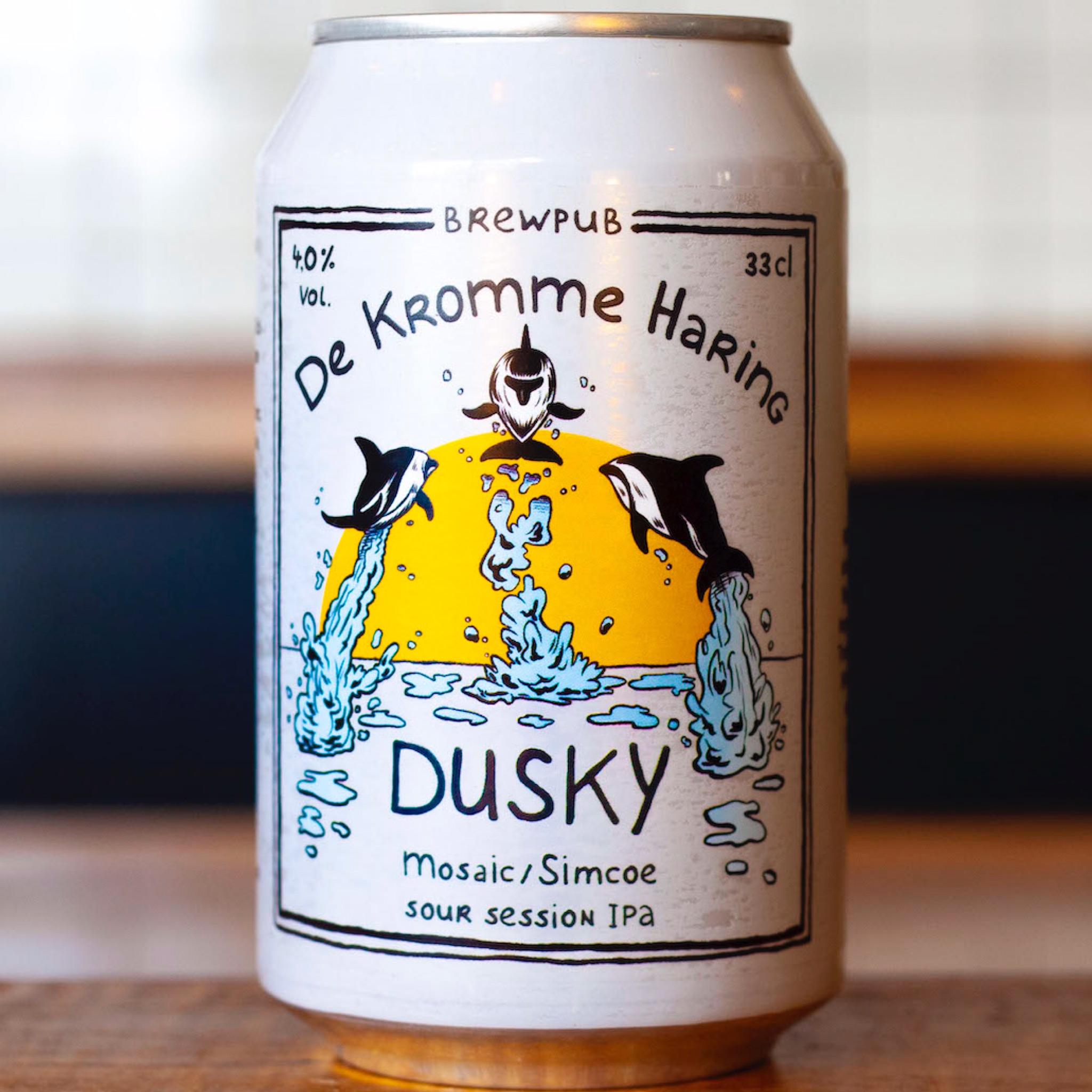 Dusky Mosaic-Simcoe Sour Session IPA 4% 330ml De Kromme Haring