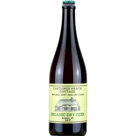 Castlings Heath Cottage - Organic Dry Cider - 2019 Vintage  7.5% 750ml Little Earth Project