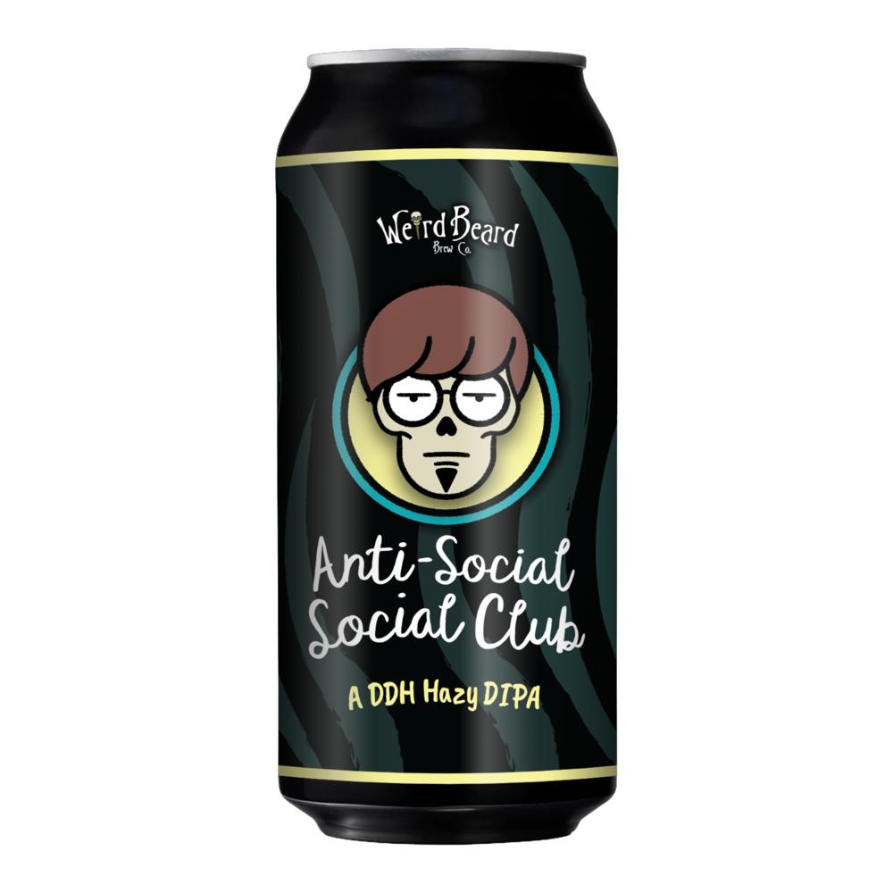 Anti-Social Social Club 7.7% 440ml Double Dry Hopped Double IPA Weird Beard Brew Co