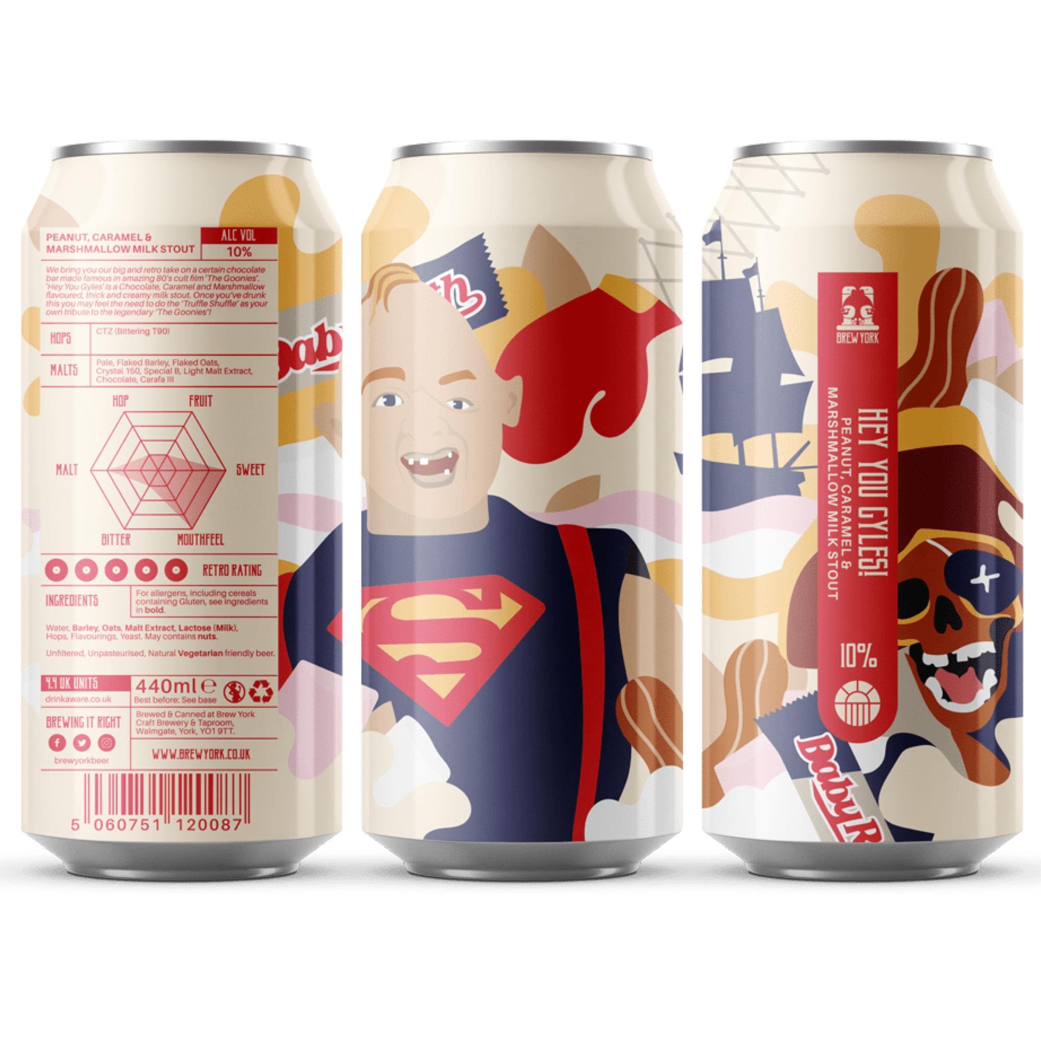 Hey You Gyles! Peanut, Caramel & Marshmallow Milk Stout 10% 440ml Brew York