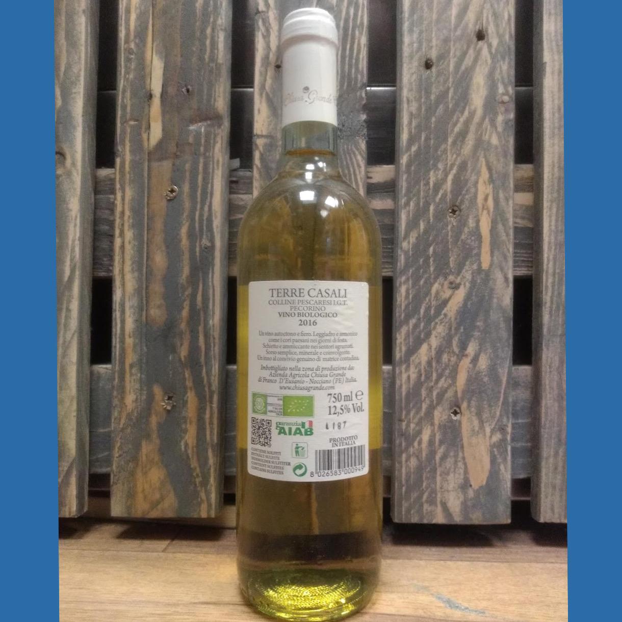 TERRE CASALI Pecorino Colline Pescaresi I.G.T. Organic White Wine 12.5% 750ml