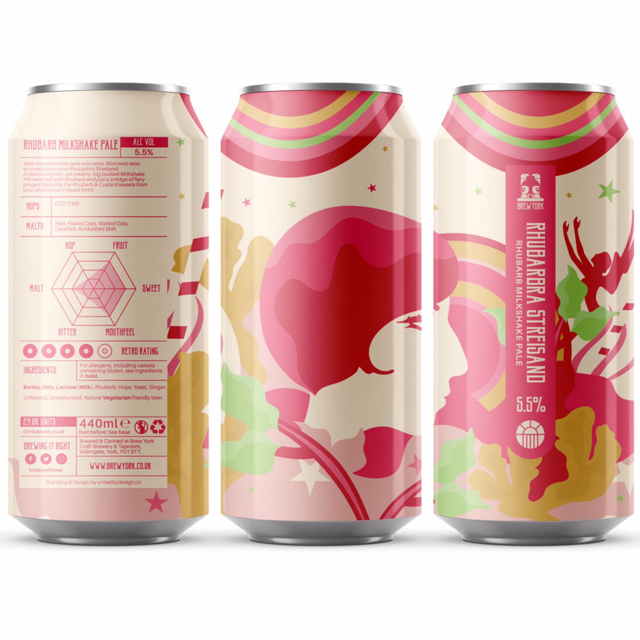 Rhubarbra Streisand Milkshake Pale 5.5% 440ml Brew York