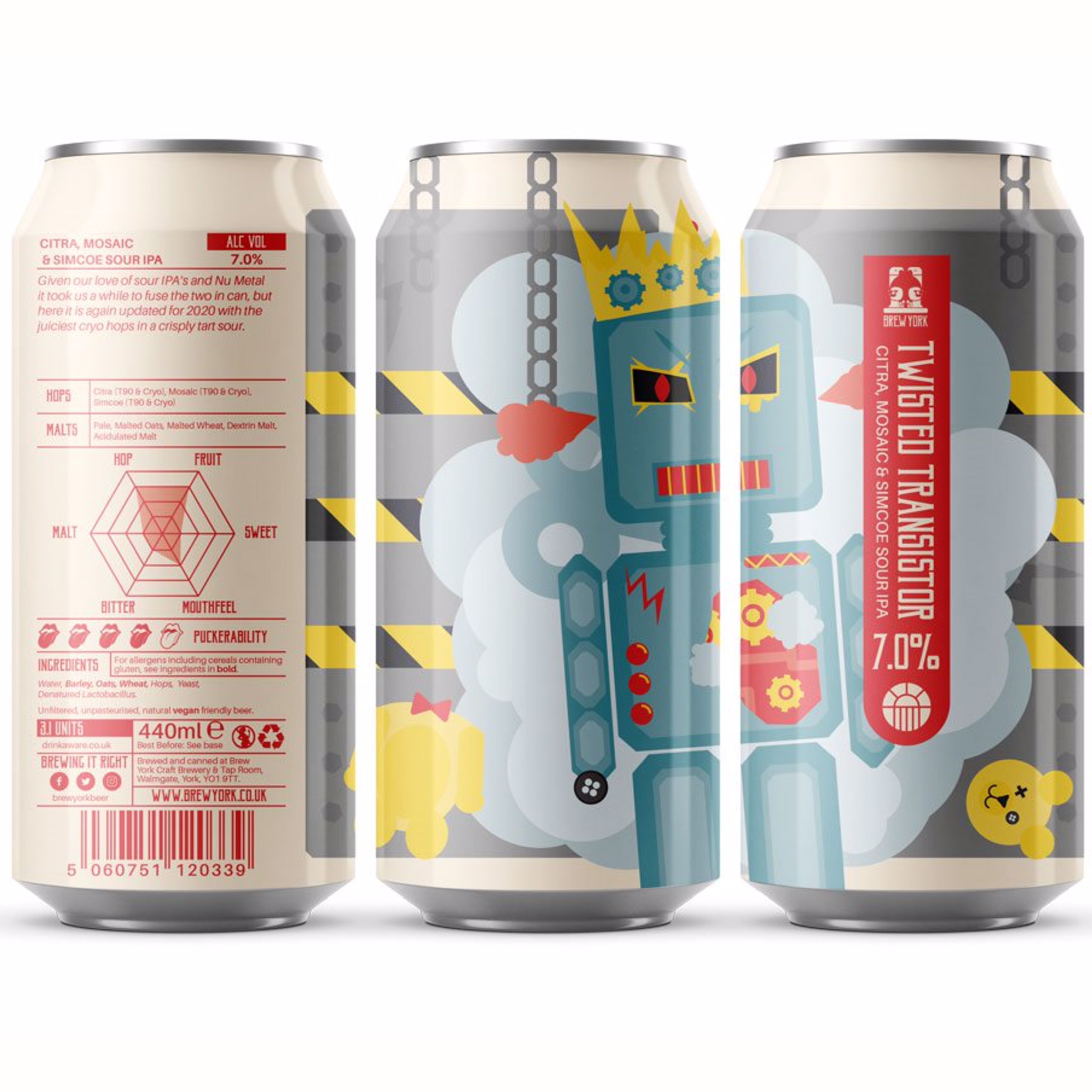 Twisted Transistor Sour NEIPA 7.1% 440ml Brew York