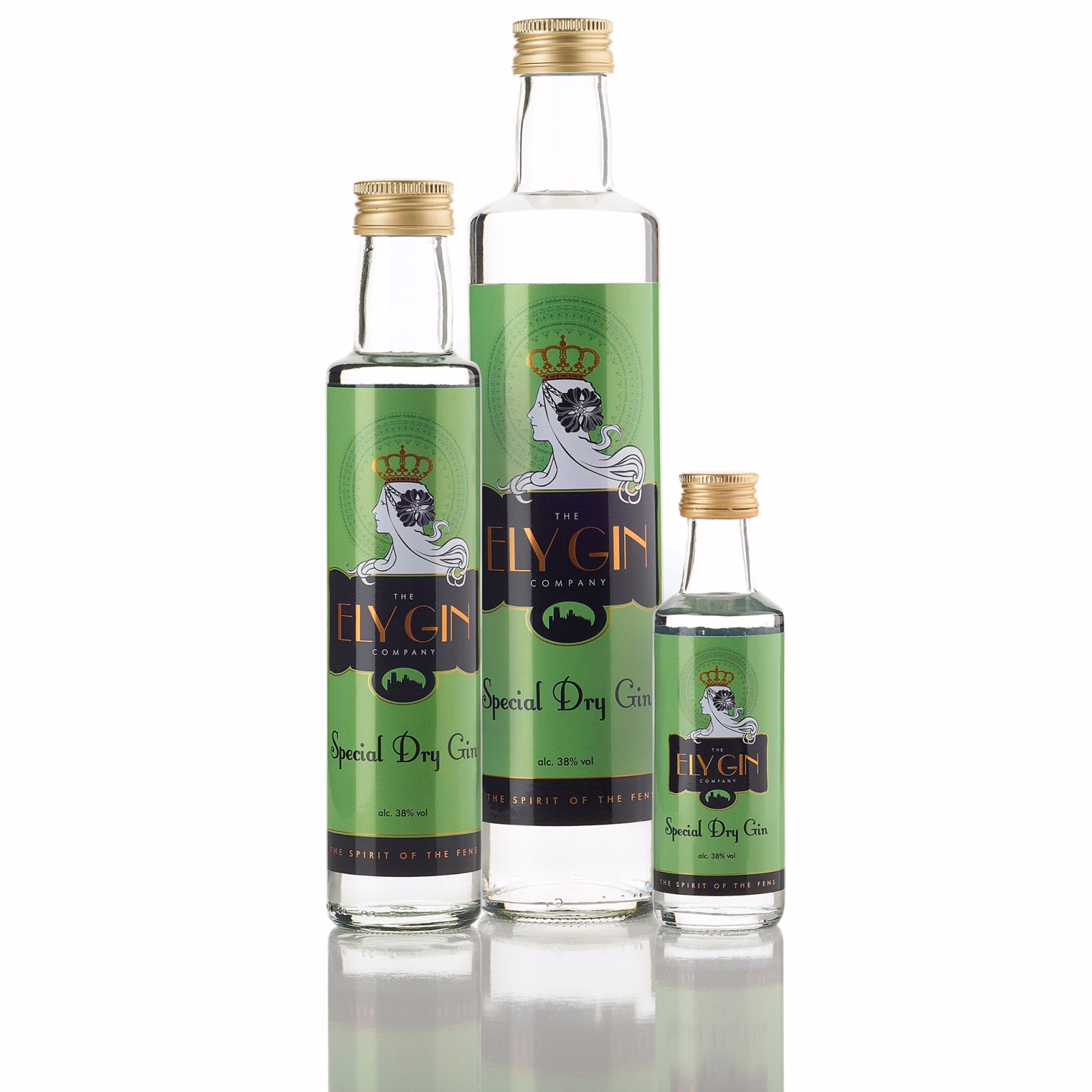 Ely London Dry Gin 38% 100ml, 250ml & 500ml