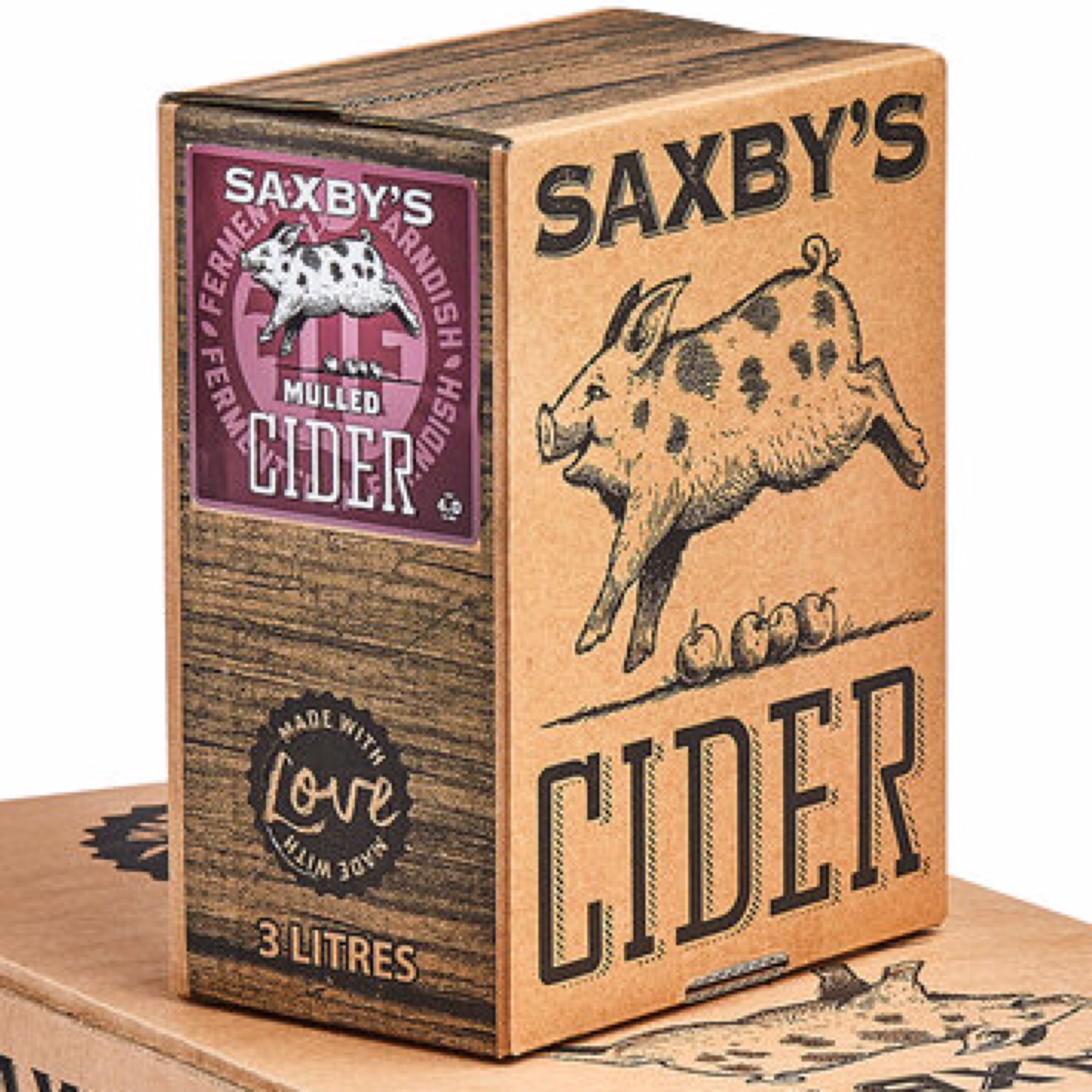 Saxby's Mulled Cider 4% 500ml & 3litres Bag In The Box