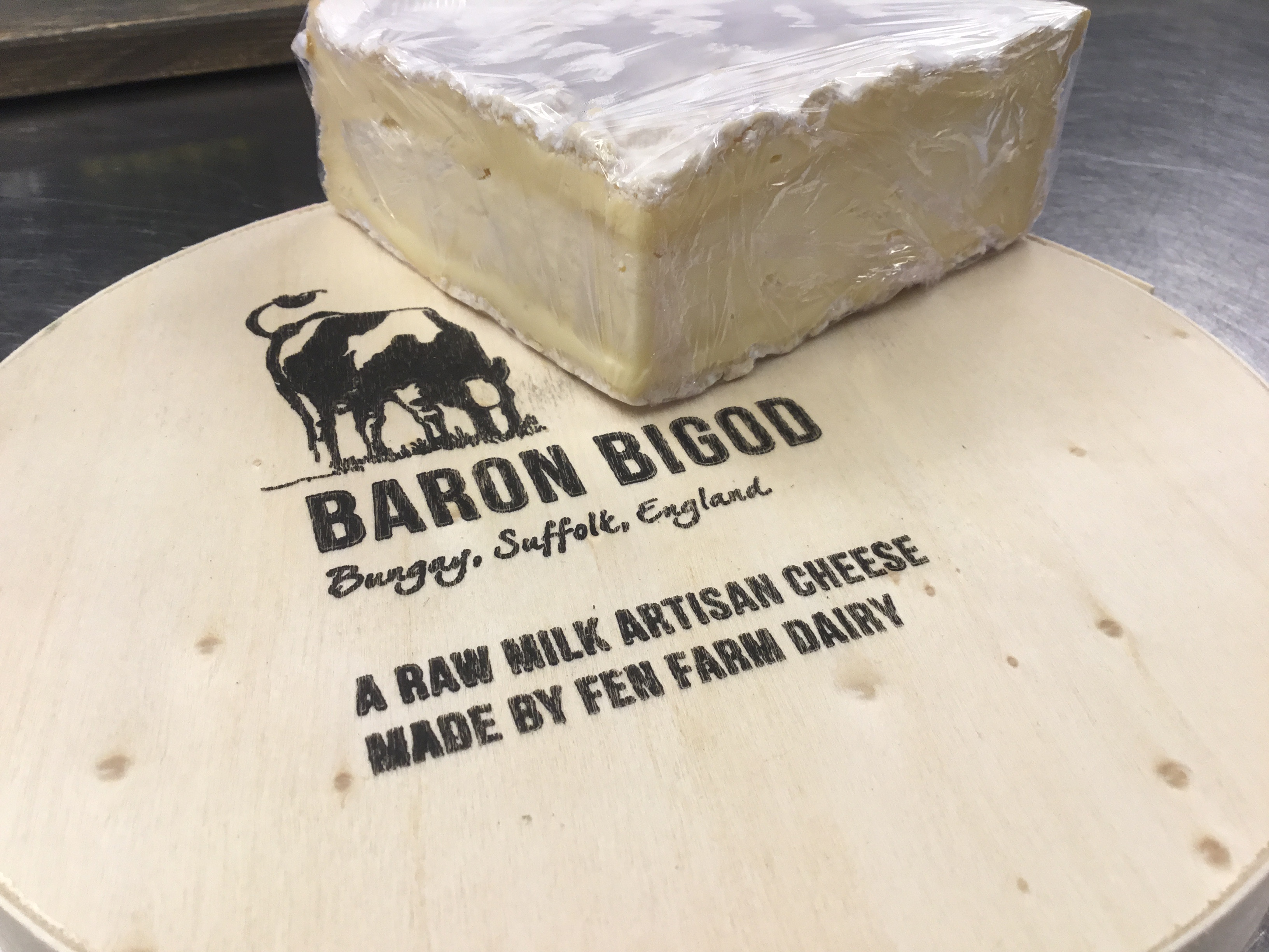 Baron Bigod Raw milk artisan cheese Brie Style Portions