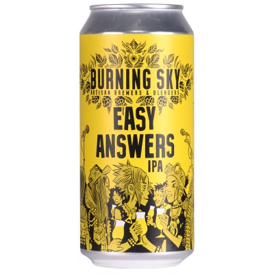 Easy Answers IPA 6% 440ml Burning Sky Brewing