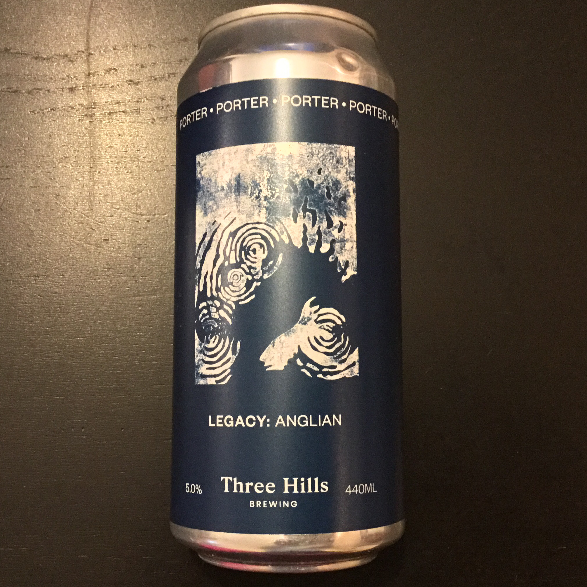 Anglian Legacy Porter 5% 440ml Three Hills Brewing