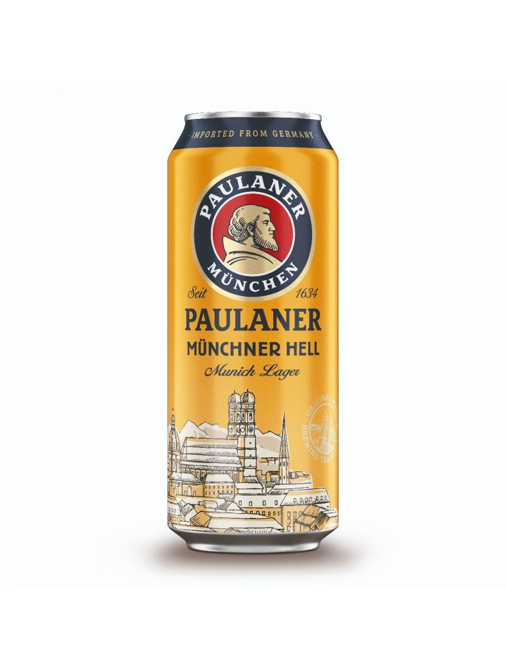 Paulaner Munchener Hell 4.9% 500ml Can