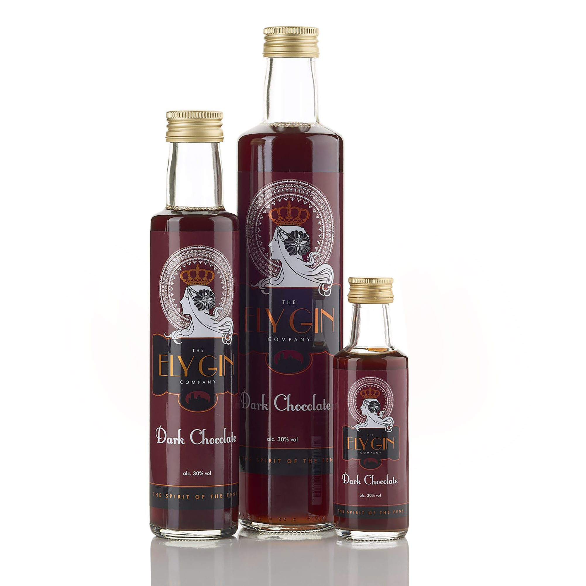 Ely Gin with Dark Chocolate 30% 100ml, 250ml & 500ml