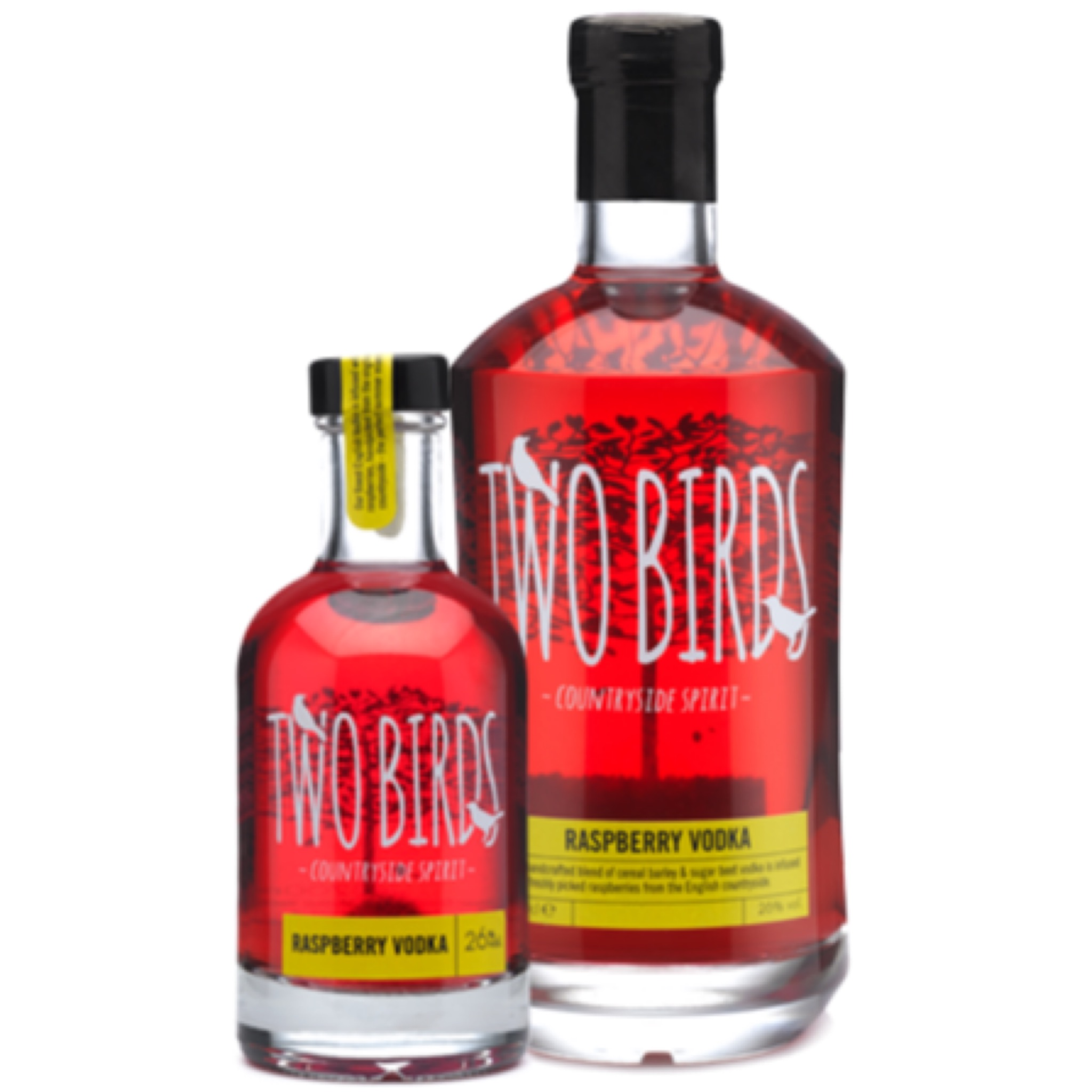 Two Birds Raspberry Vodka 26% 200ml & 700ml