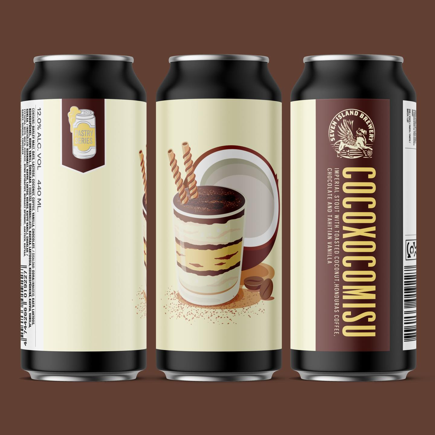 Cocoxocomisu - Imperial Stout with Toasted Coconut, Coffee, Chocolate & Vanilla, 12%, 440ml  Seven Island Brewery
