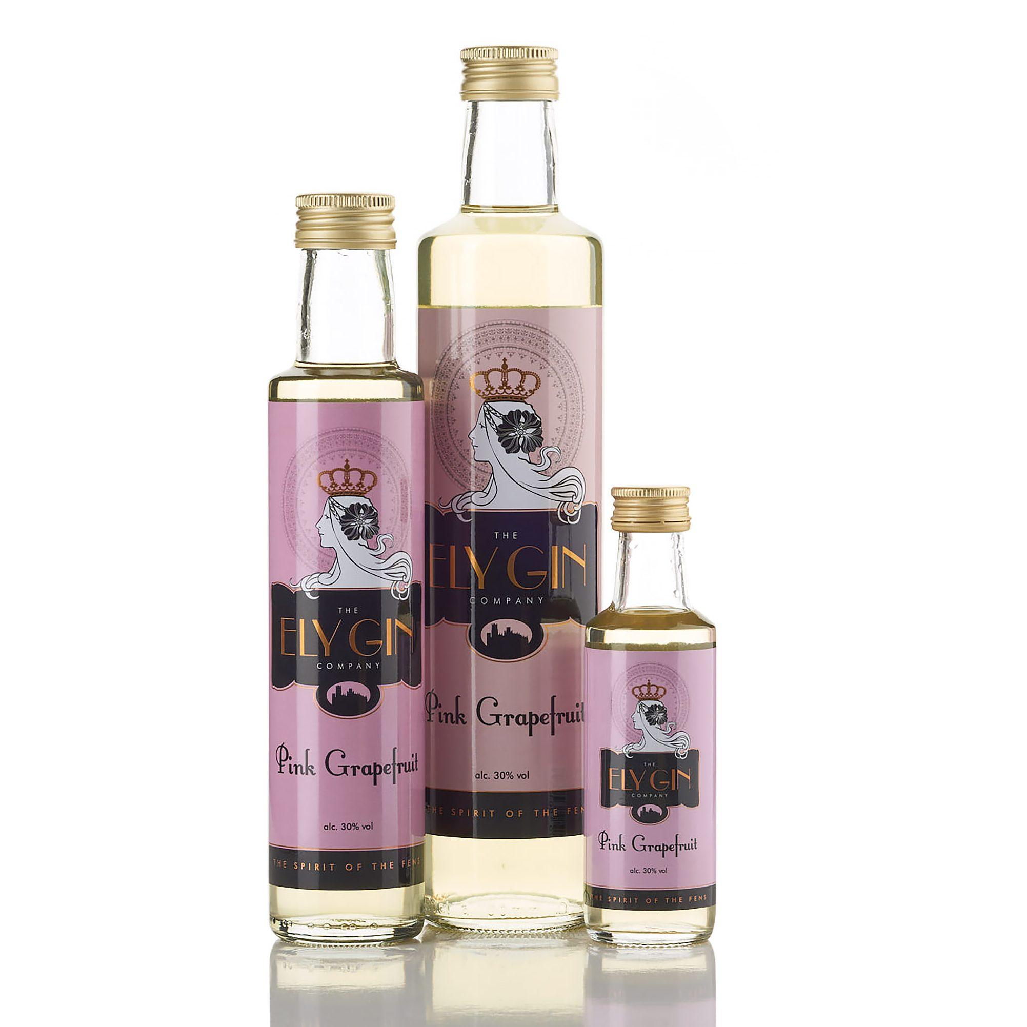 Ely Gin with Pink Grapefruit 30% 100ml, 250ml & 500ml