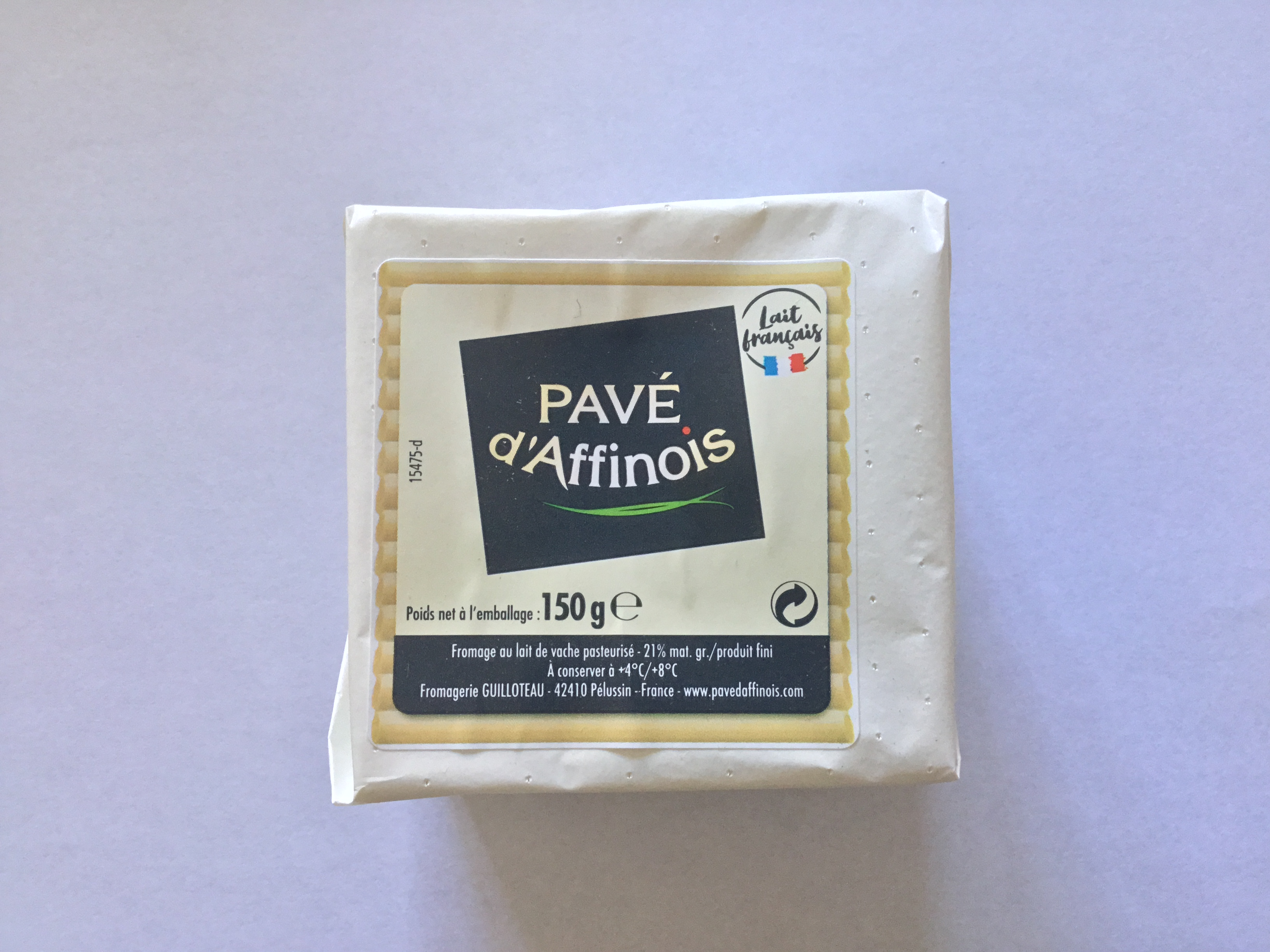 Pavé d'Affinois 150g A double-cream, soft cheese with sweet soft flavours.