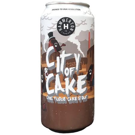 City of Cake - Chocolate Fudge Cake Stout 5.5% 440ml Hammerton Brewery
