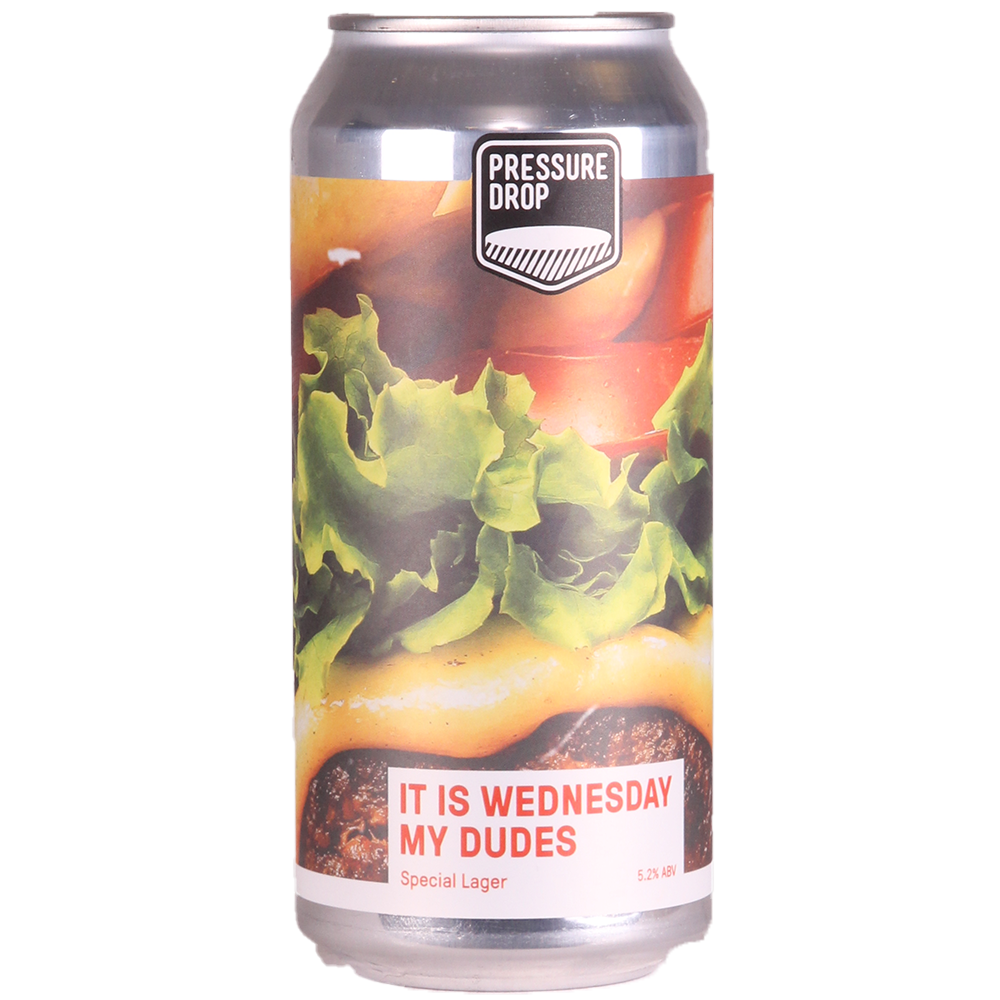 It Is Wednesday My Dudes - Special Lager 5.2% 440ml Pressure Drop Brewing