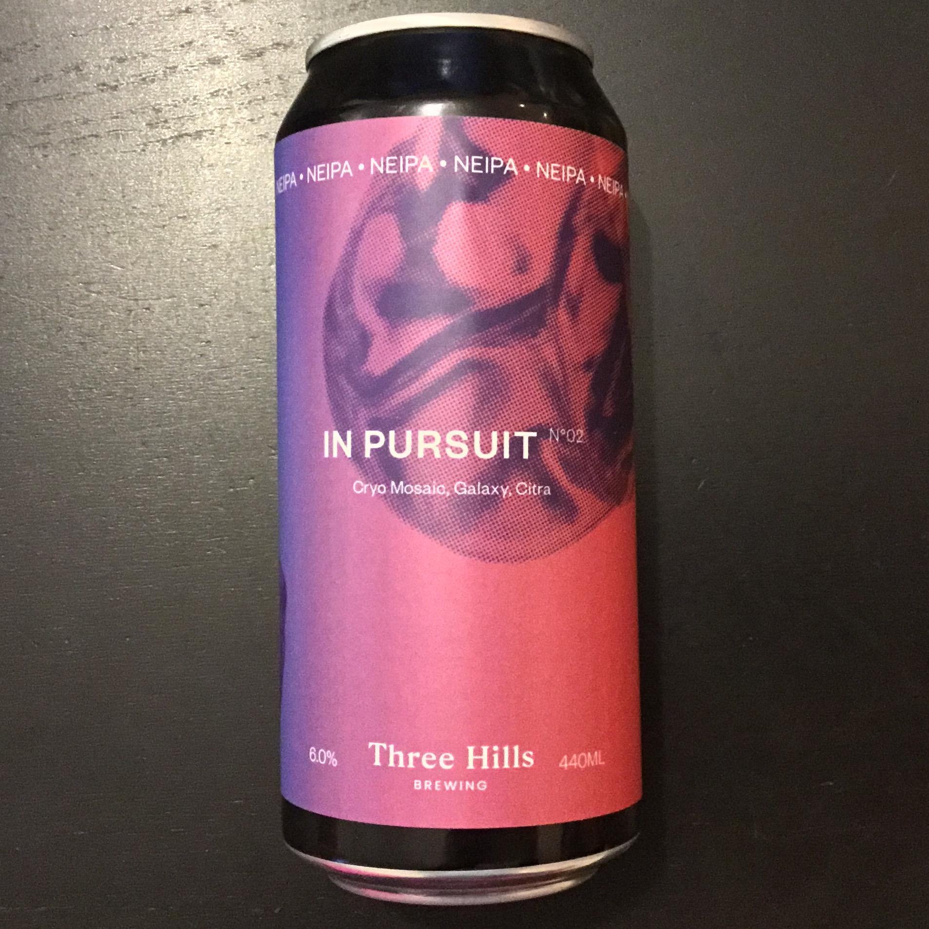 In Pursuit NEIPA 6% 440ml No2 Three Hills Brewing
