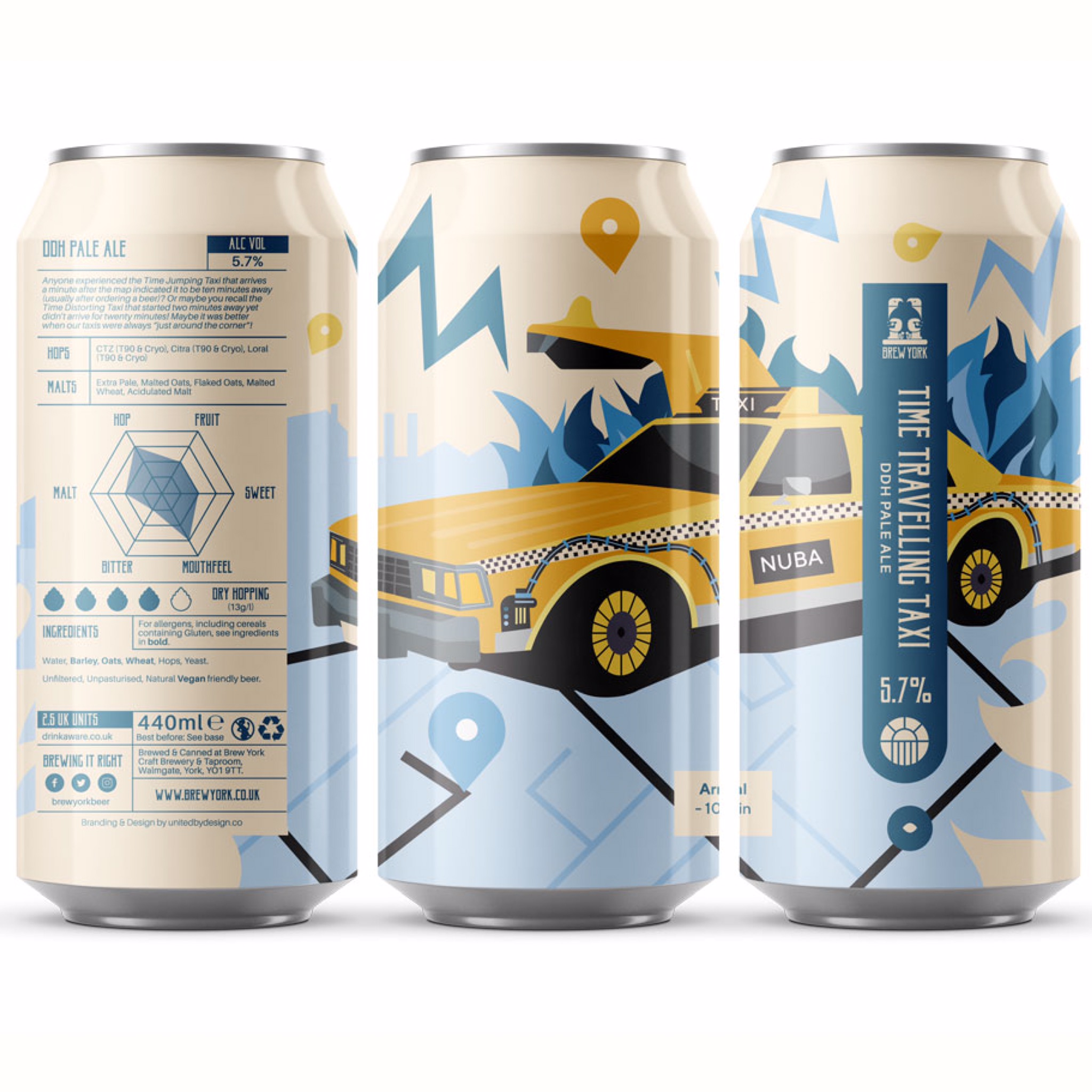 Time Travelling Taxi DDH Pale 5.7% 440ml Brew York