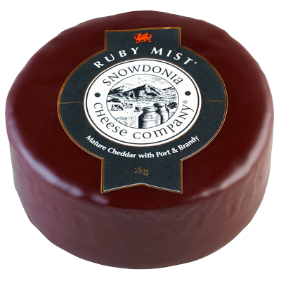 Ruby Mist 200g - Mature Cheddar with Port and Brandy Snowdonia Cheese Co