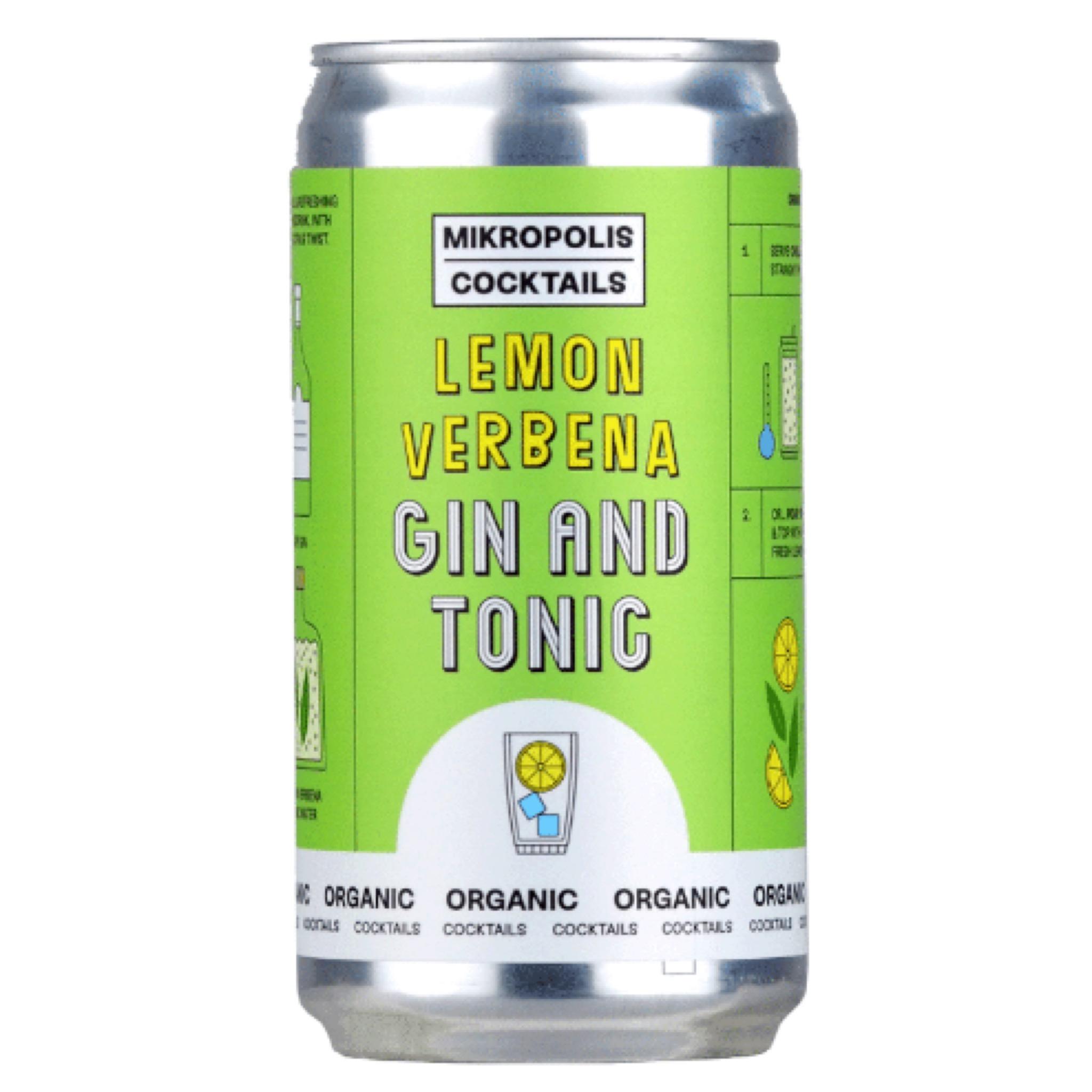 Lemon Verbena Gin & Tonic 6.5% 250ml Mikropolis Cocktails