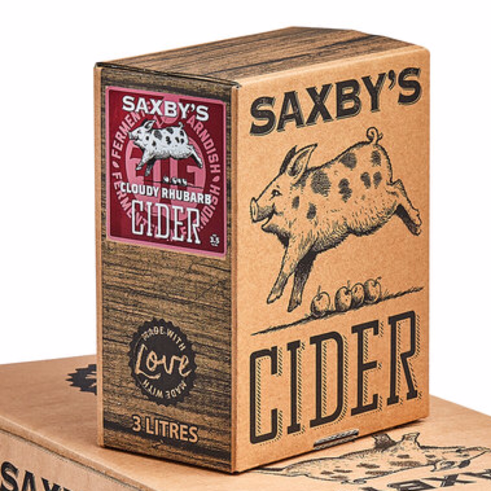 Saxby's Rhbarb Cider 3.5% 500ml & 3litre Bag In The Box