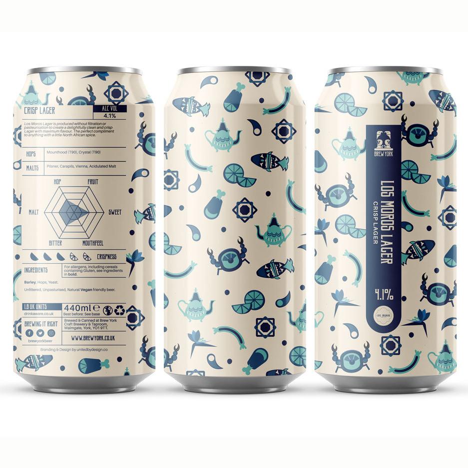 Los Moros Lager 4.1% 440ml Brew York