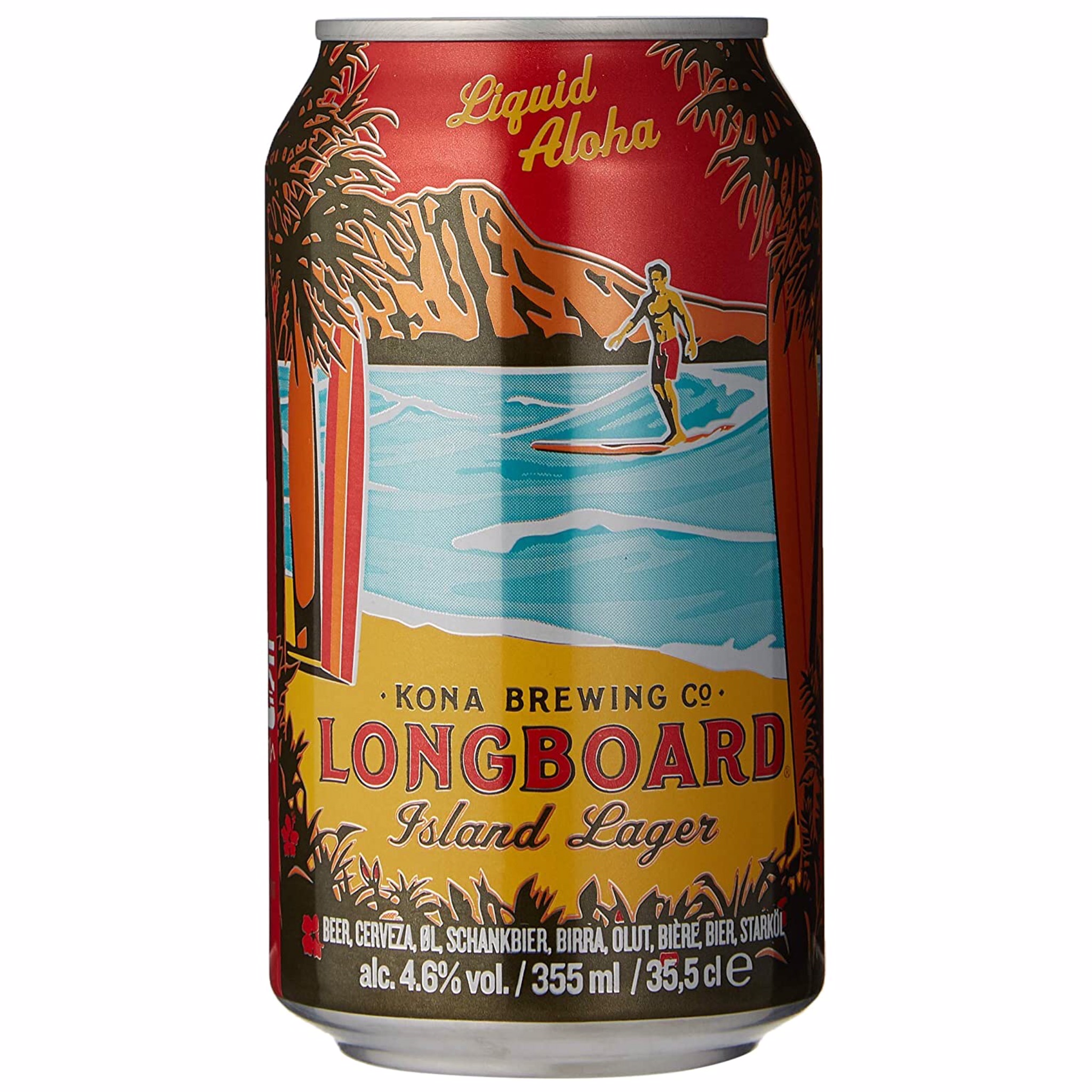 Longboard Island Lager 4.6% 355ml Kona Brewing