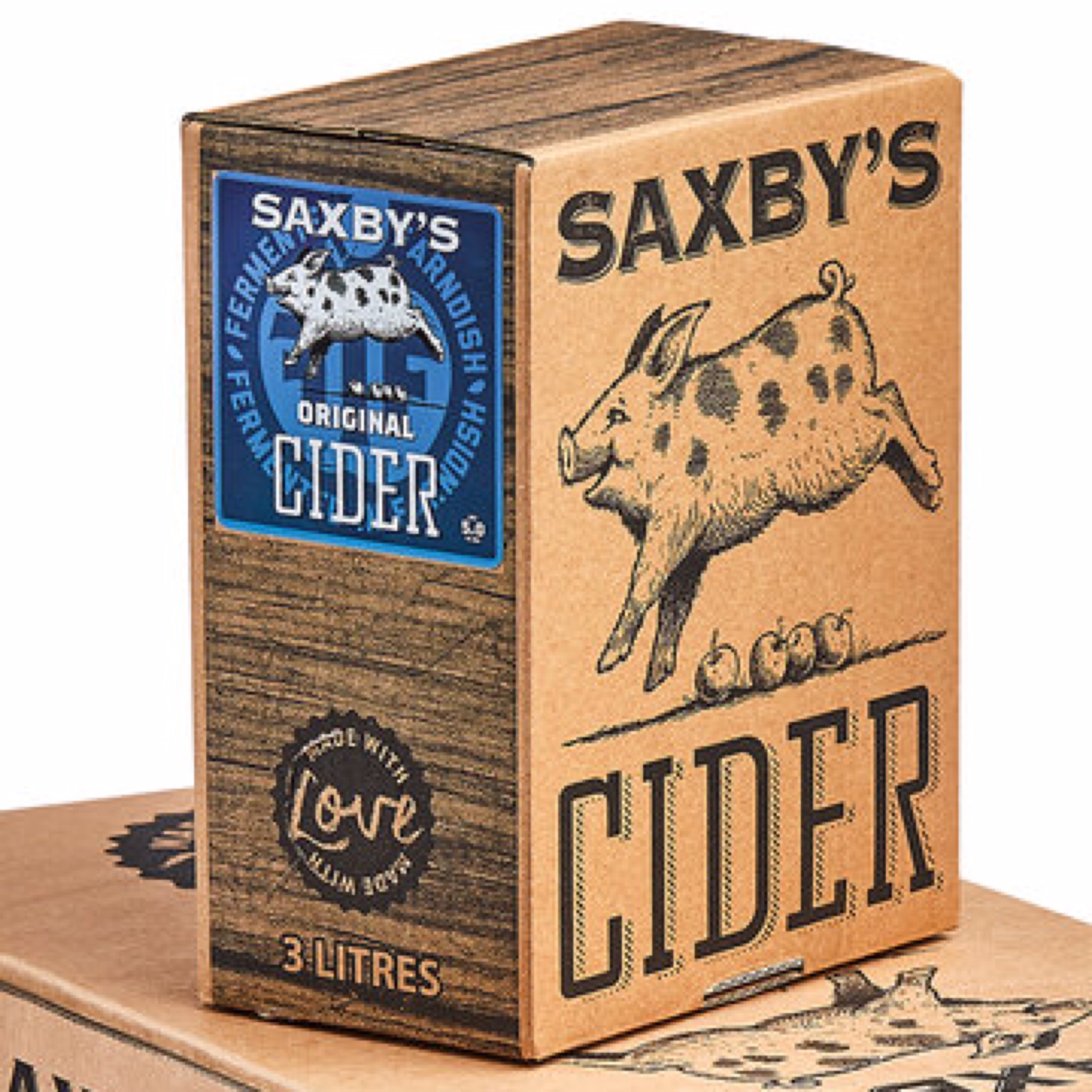 Saxby's Original Cider 5% 500ml & 3litre Bag In The Box
